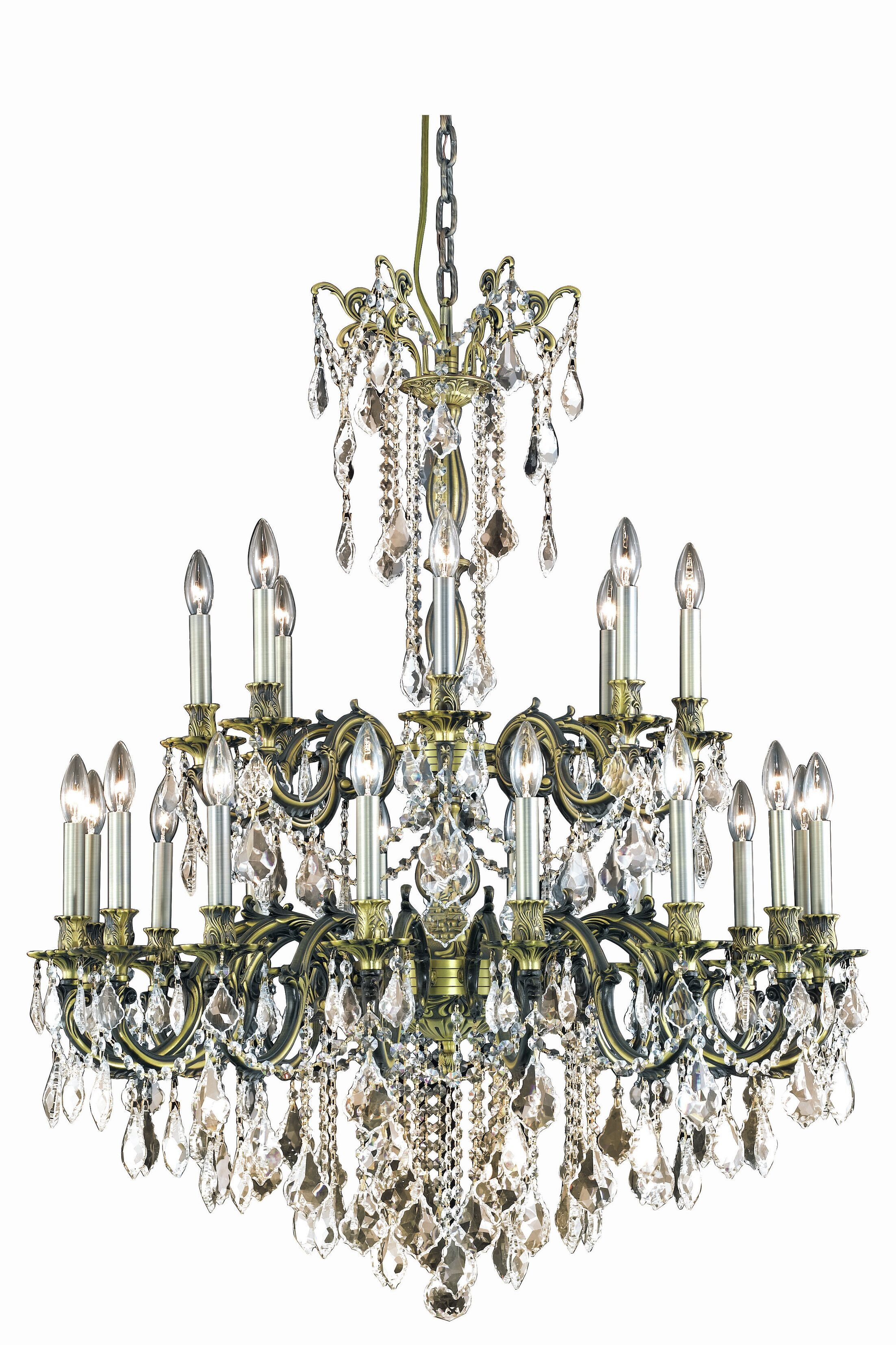 Utica 24-Light Candle Style Chandelier Crystal Grade: Royal Cut, Color: Dark Bronze