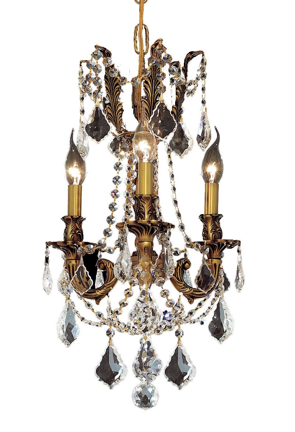 Utica 3-Light Candle Style Chandelier Color / Crystal Color / Crystal Trim: French Gold / Crystal (Clear) / Strass Swarovski