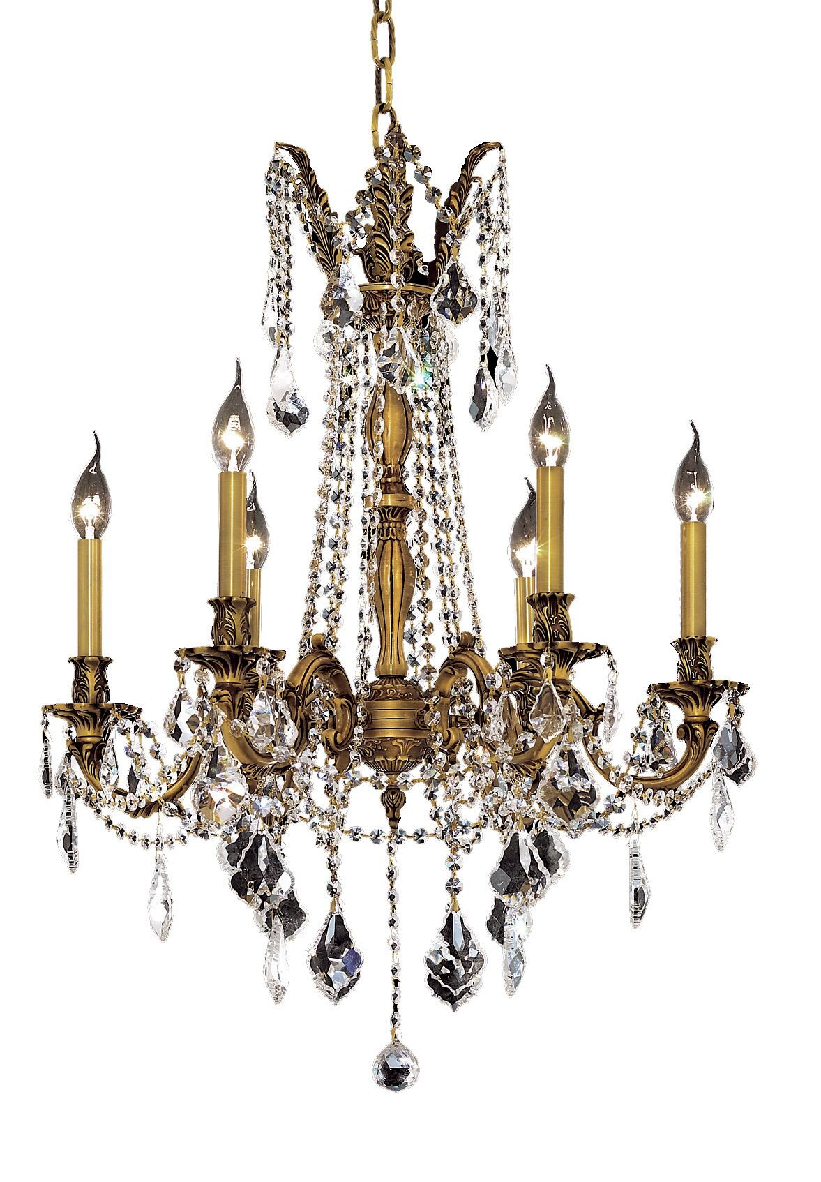 Utica 6-Light Candle Style Chandelier Color / Crystal Color / Crystal Trim: French Gold / Crystal (Clear) / Royal Cut