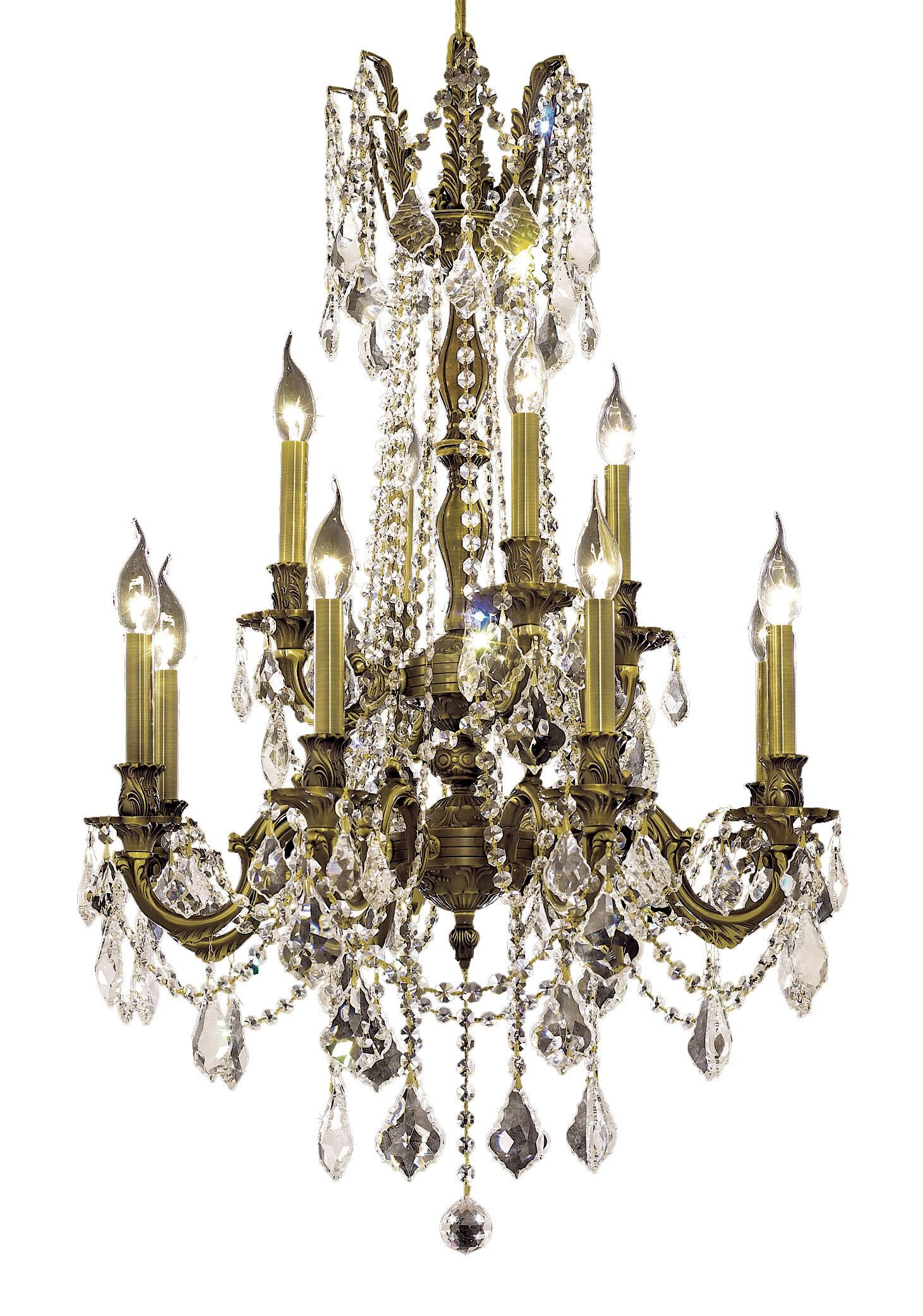 Utica 12-Light Candle Style Chandelier Color / Crystal Color / Crystal Trim: French Gold / Crystal (Clear) / Strass Swarovski