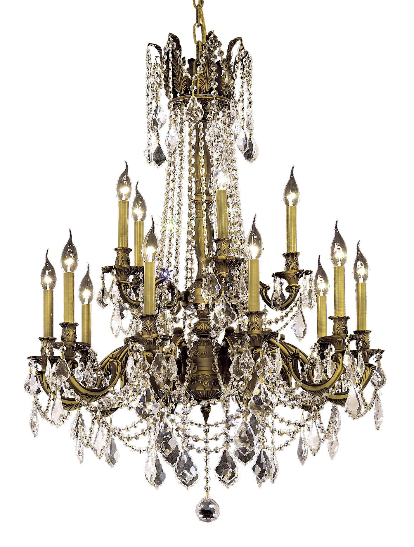 Utica 15-Light Candle Style Chandelier Color / Crystal Color / Crystal Trim: French Gold / Crystal (Clear) / Strass Swarovski