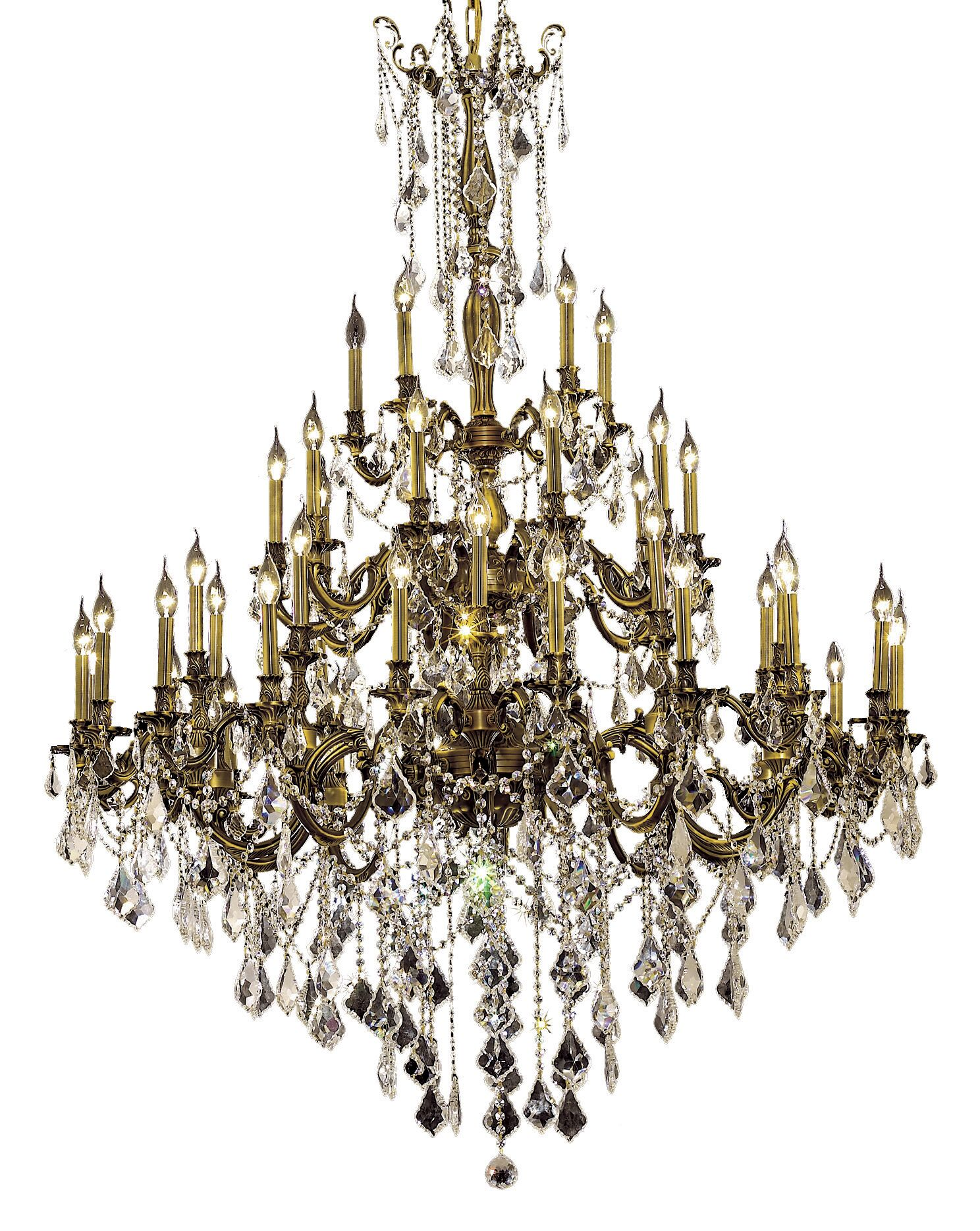 Utica 45-Light Candle Style Chandelier Color / Crystal Color / Crystal Trim: French Gold / Crystal (Clear) / Spectra Swarovski