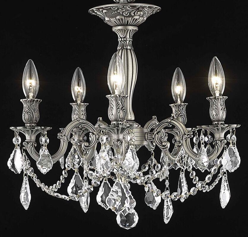 Utica 5-Light Chandelier Crystal Color / Crystal Grade: Crystal (Clear) / Royal Cut