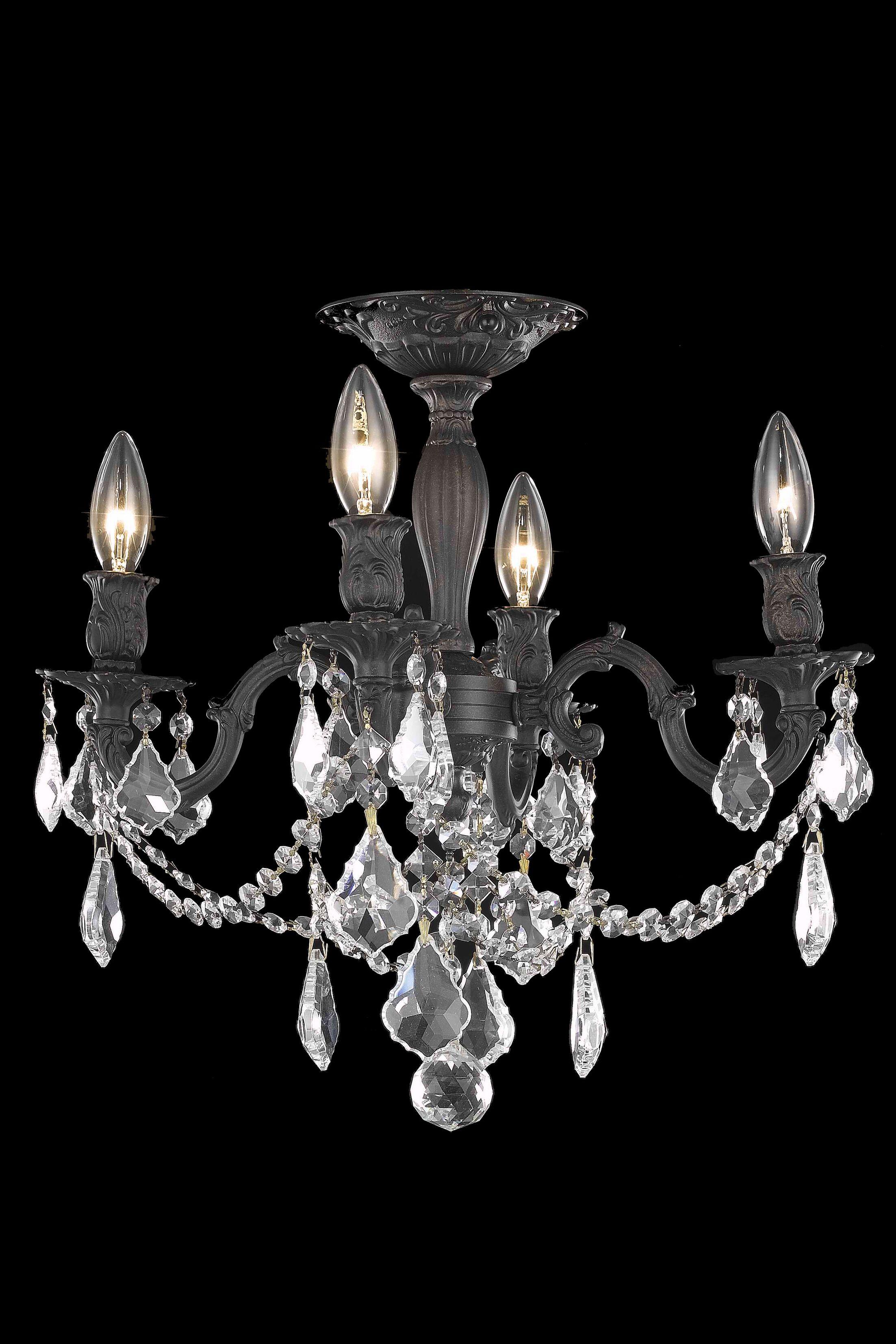 Utica 4-Light Semi Flush Mount Crystal Color / Crystal Grade: Crystal (Clear) / Strass Swarovski