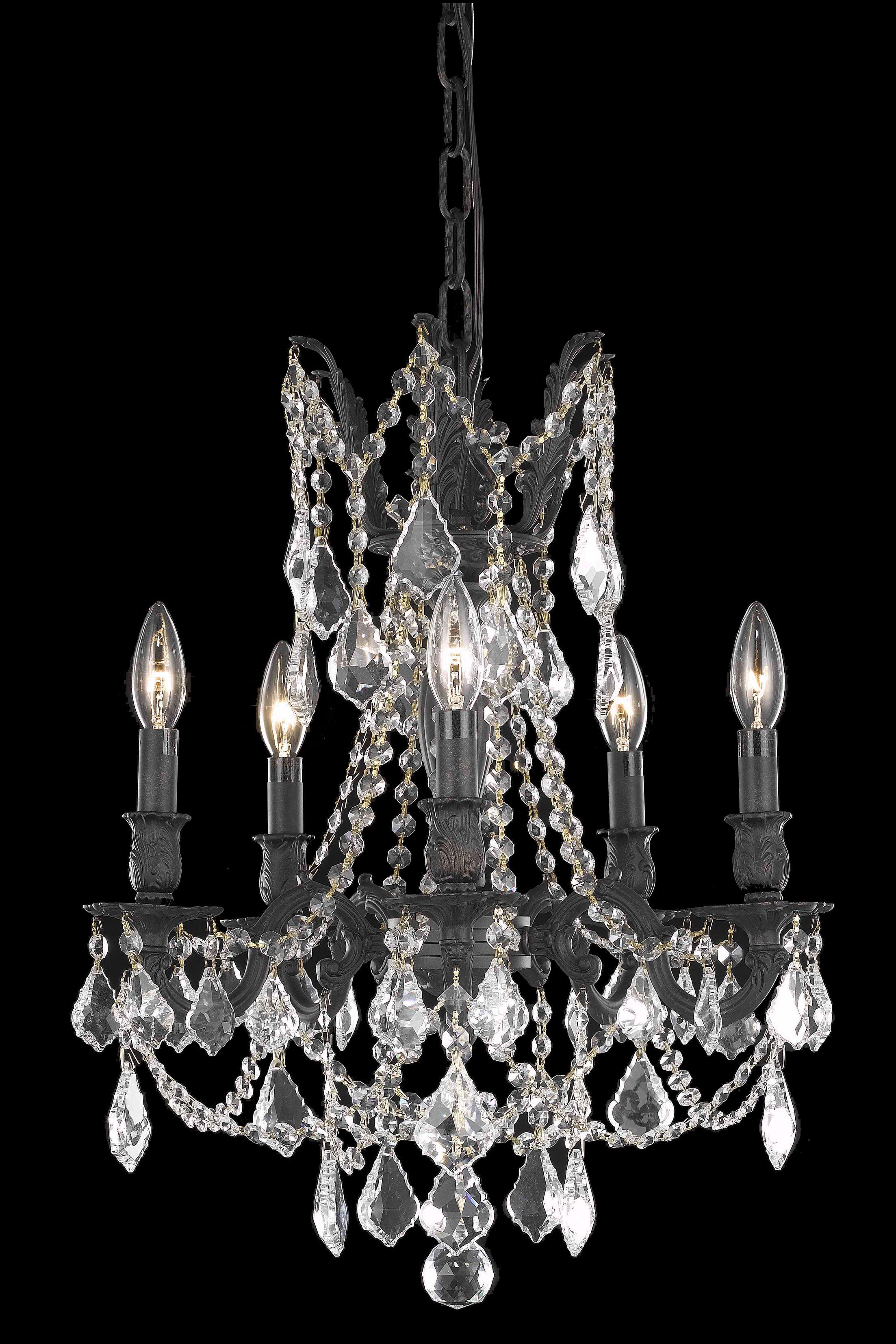 Utica 5-Light Candle Style Chandelier Crystal Color / Crystal Trim: Crystal (Clear) / Spectra Swarovski
