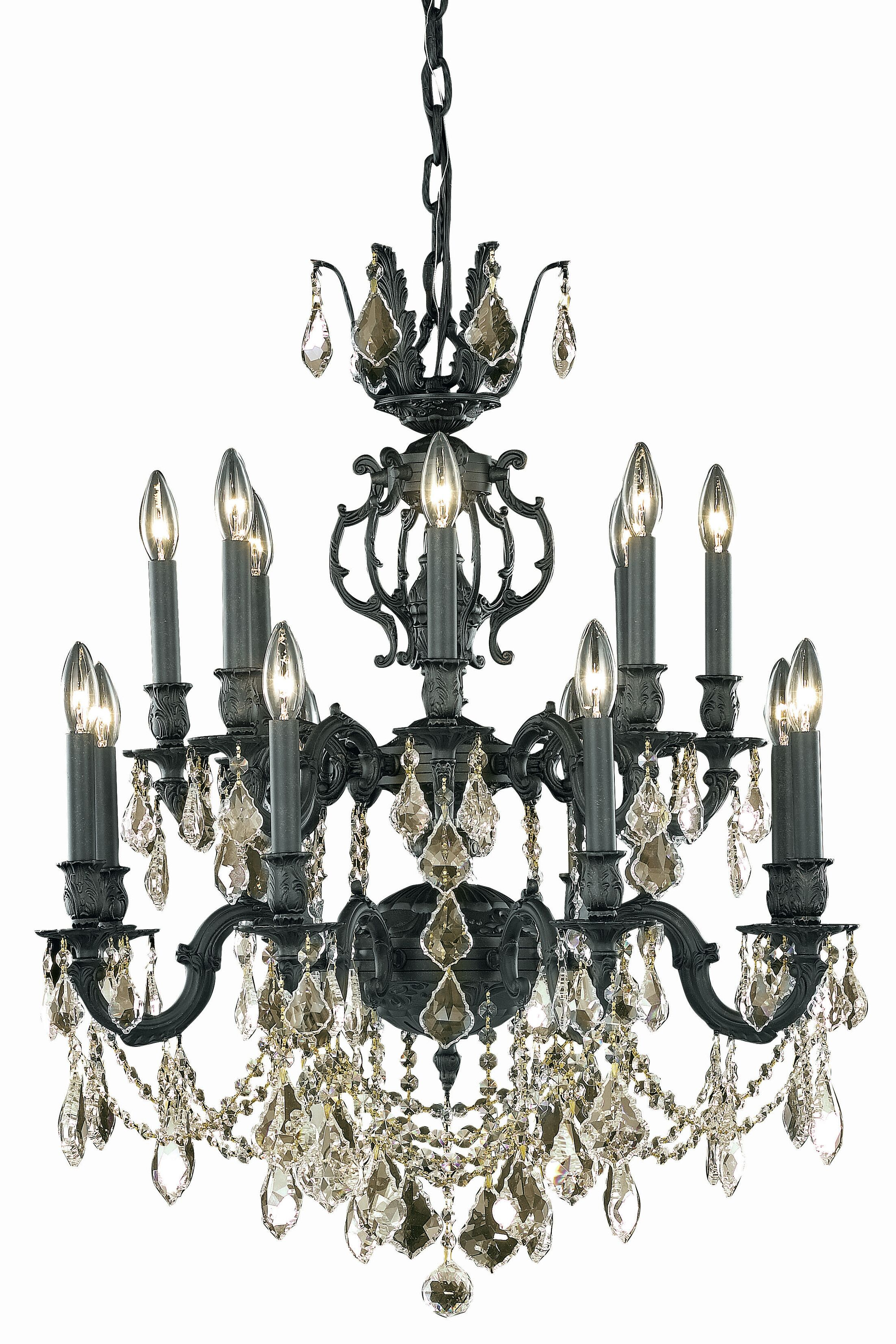 Canary 16-Light Candle Style Chandelier Crystal Color / Crystal Trim: Crystal (Clear) / Elegant Cut