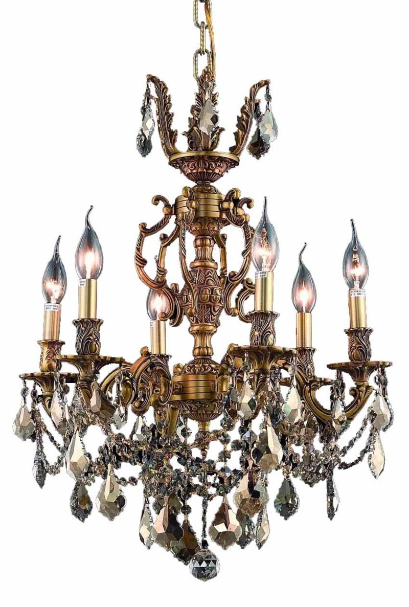 Canary 6-Light Candle Style Chandelier Color / Crystal Color / Crystal Trim: French Gold / Smoky / Strass Swarovski