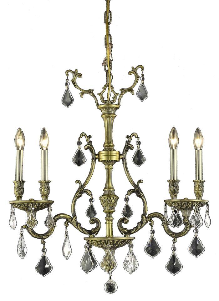 Almont 4-Light Crystal Chandelier Color / Crystal Color / Crystal Trim: French Gold / Crystal (Clear) / Royal Cut