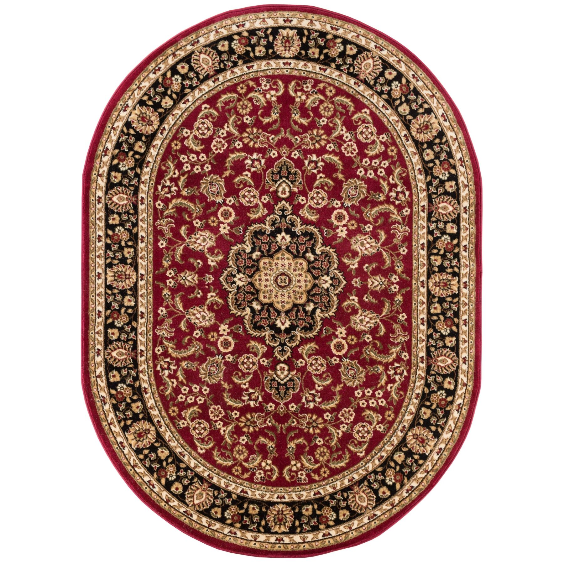 Cobbins Medallion Multi-Colored Area Rug Rug Size: Oval 7'10