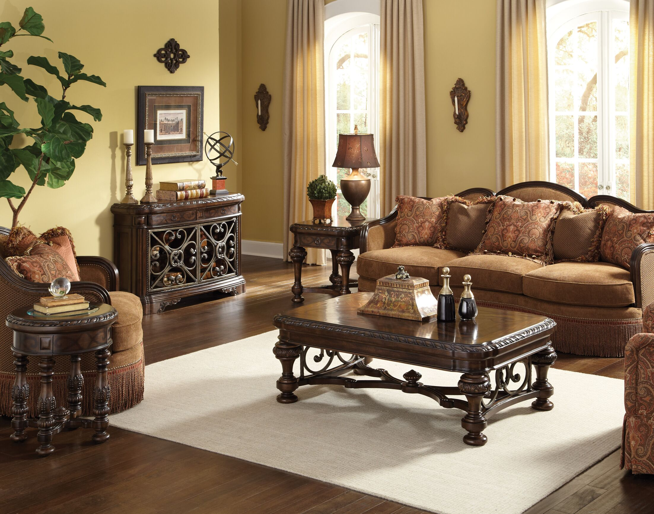 Evelyn 4 Piece Coffee Table Set