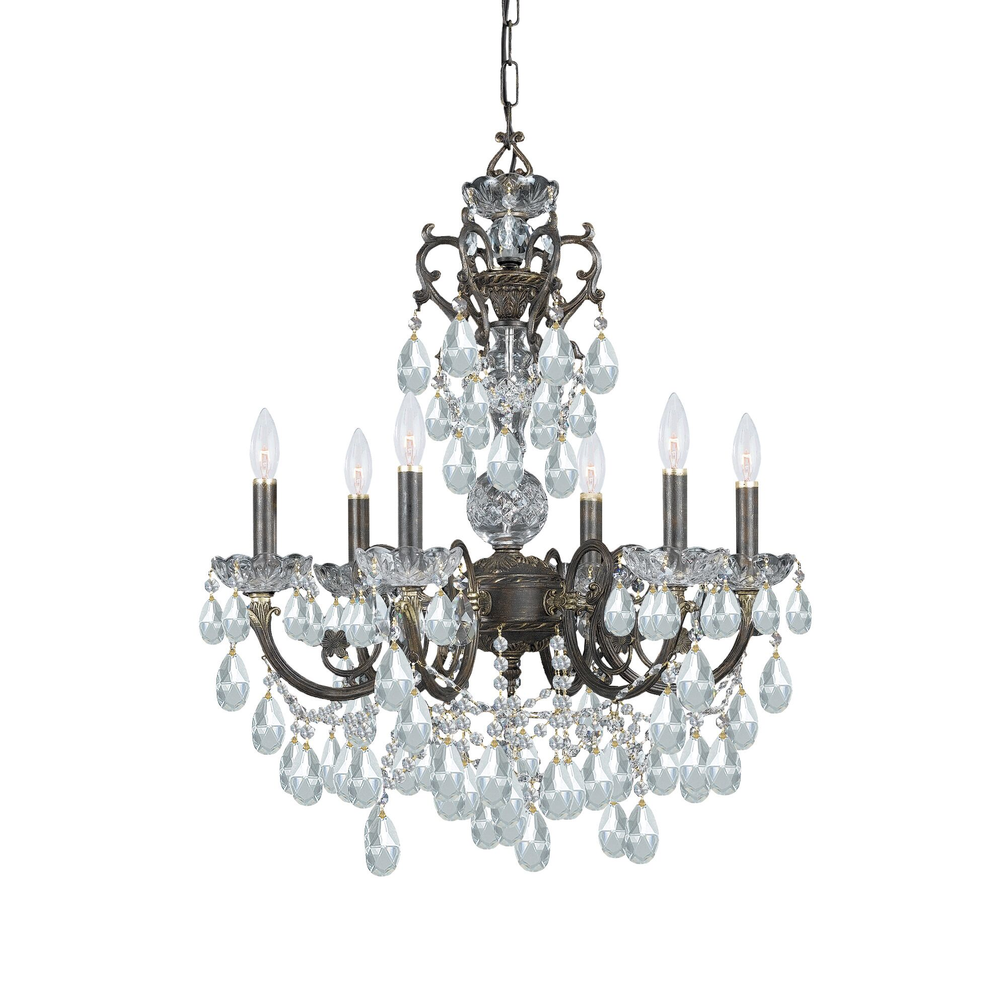 Markenfield 6-Light Candle Style Chandelier Crystal Type: Swarovski Spectra