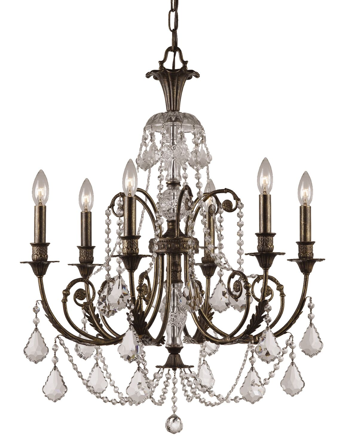 Markenfield 6-Light Candle Style Chandelier Crystal Type: Clear Swarovski Strass