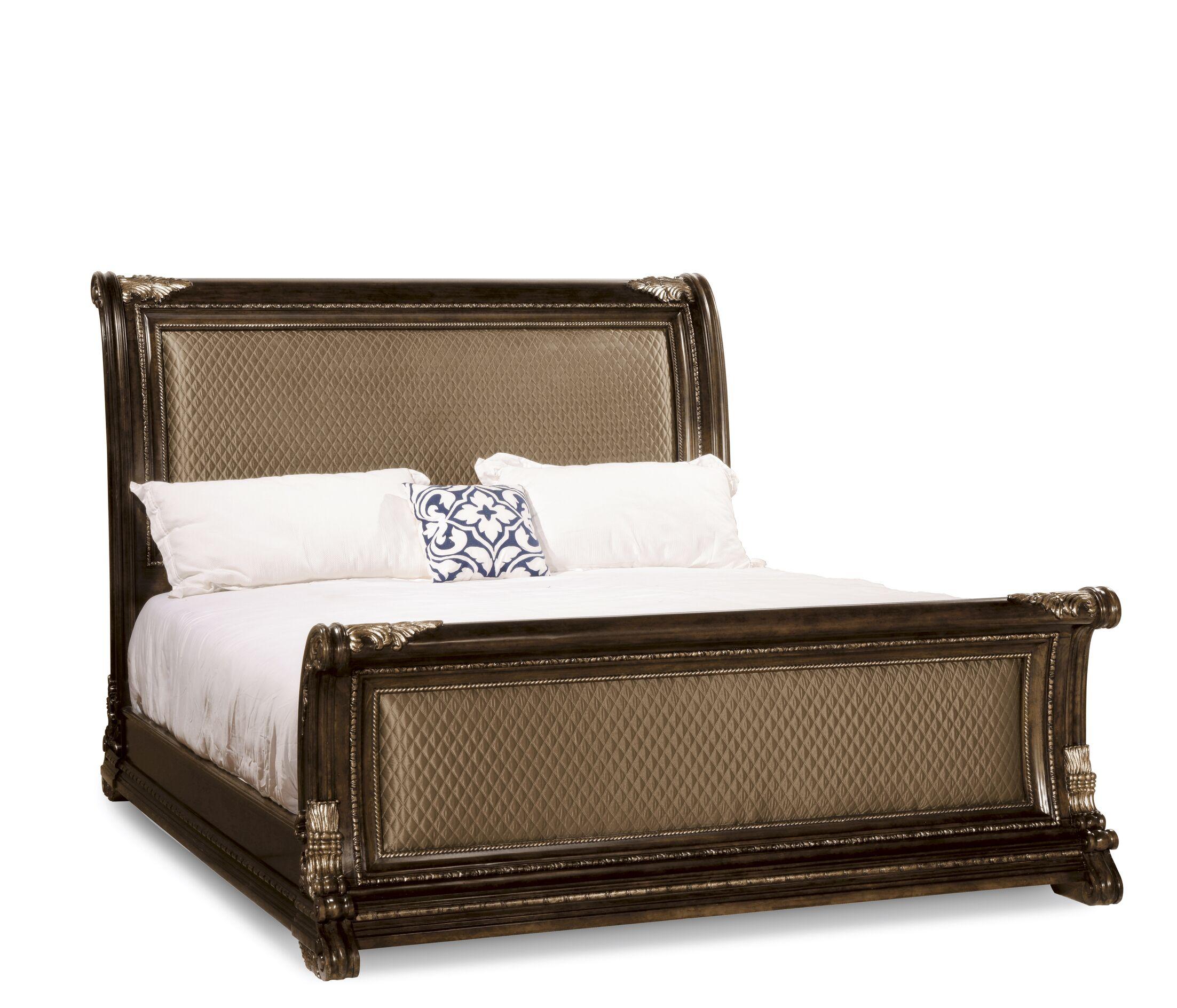 Hepburn Upholstered Sleigh Bed Size: Queen