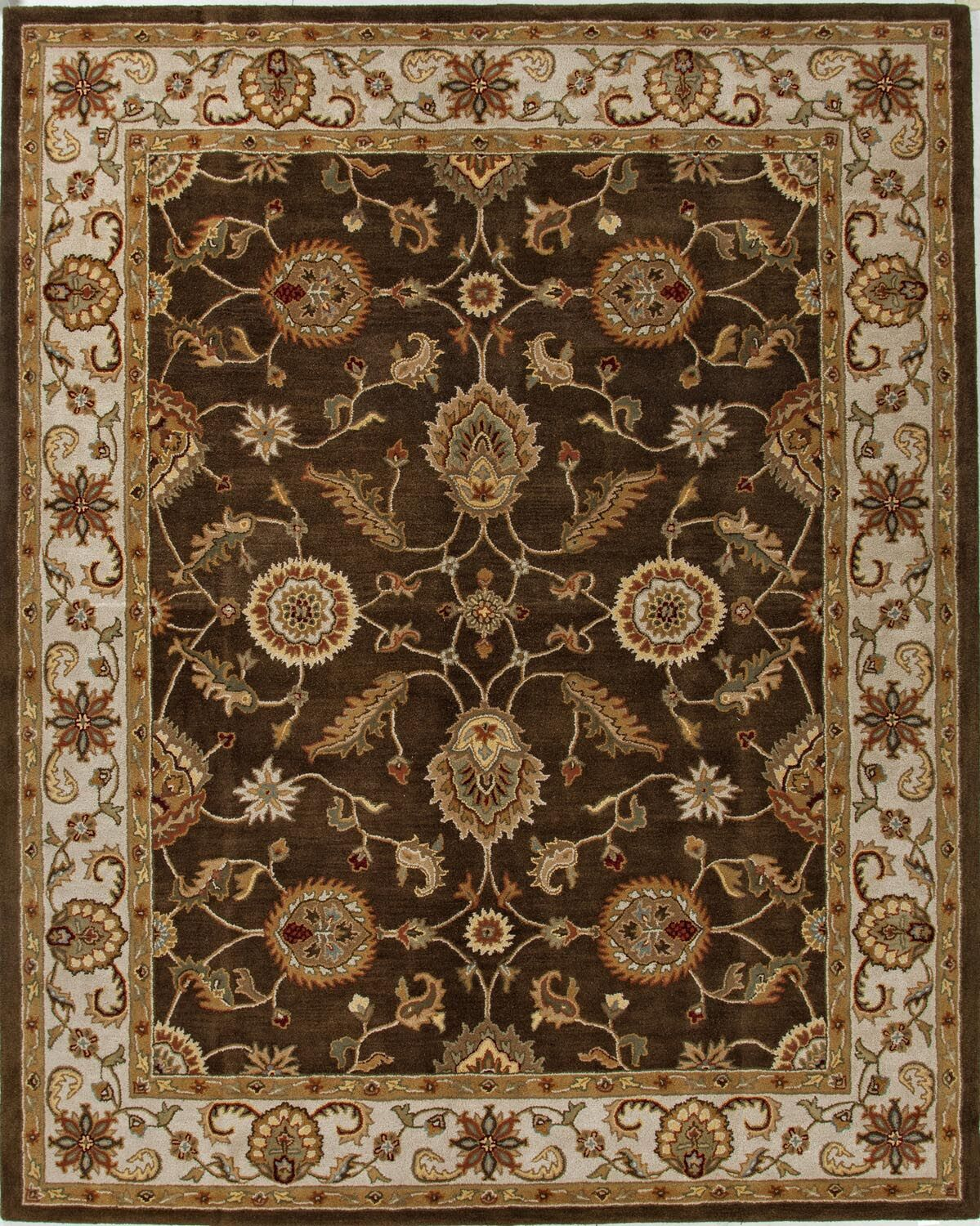 Wetheral Brown/Ivory Area Rug Rug Size: Rectangle 4' x 8'