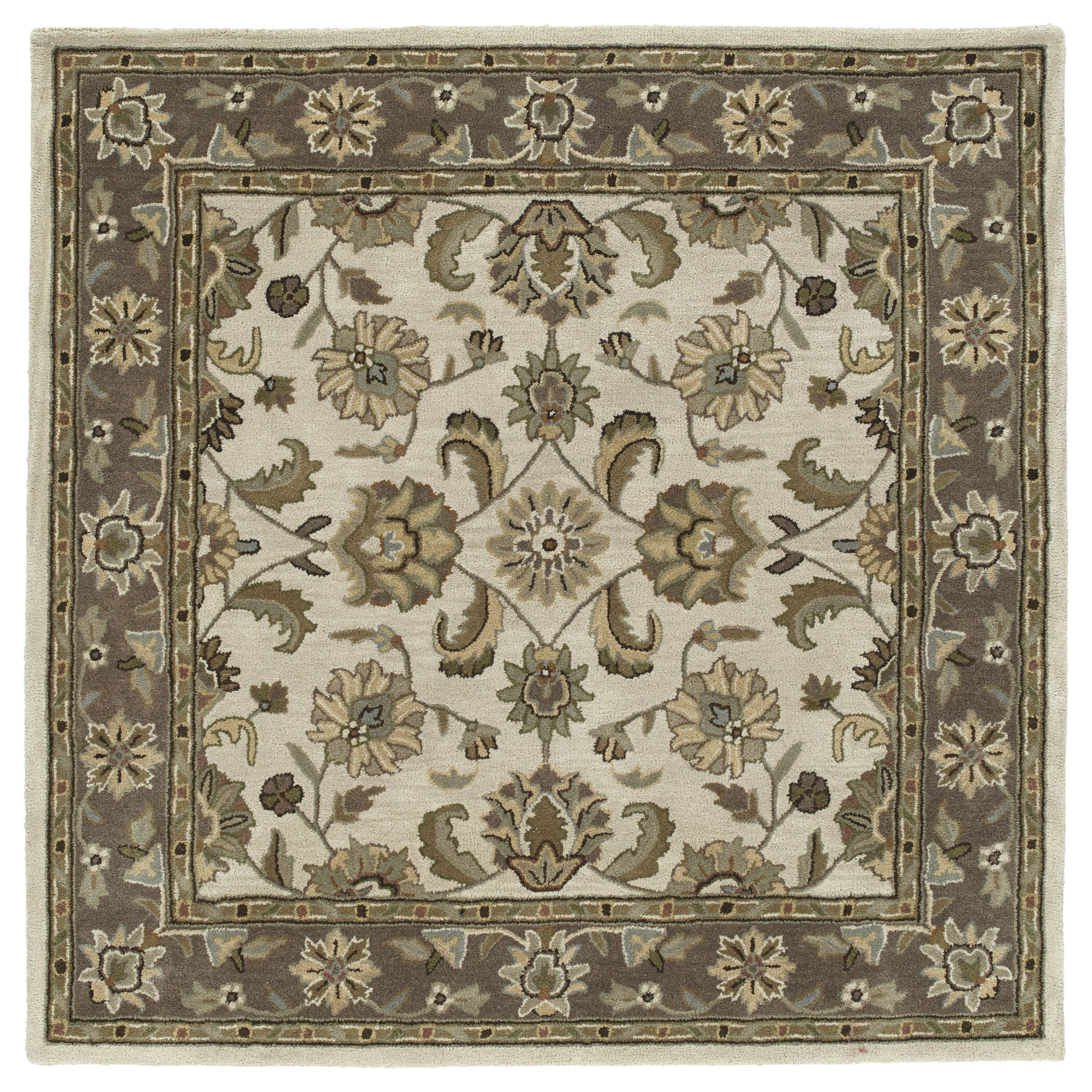 Quance Linen Area Rug Rug Size: Square 3'9