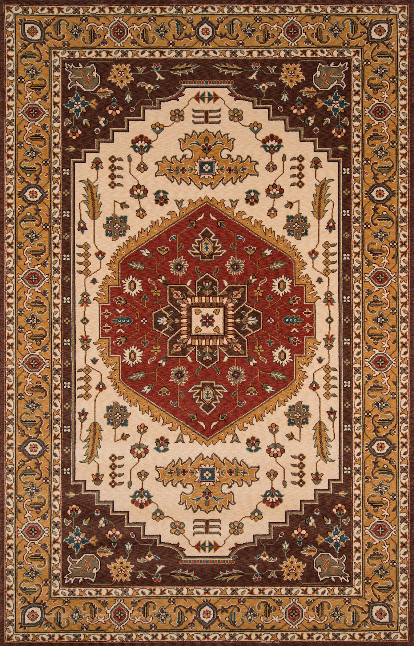 Forrestal Cocoa/Red Area Rug Rug Size: Rectangle 5' x 8'