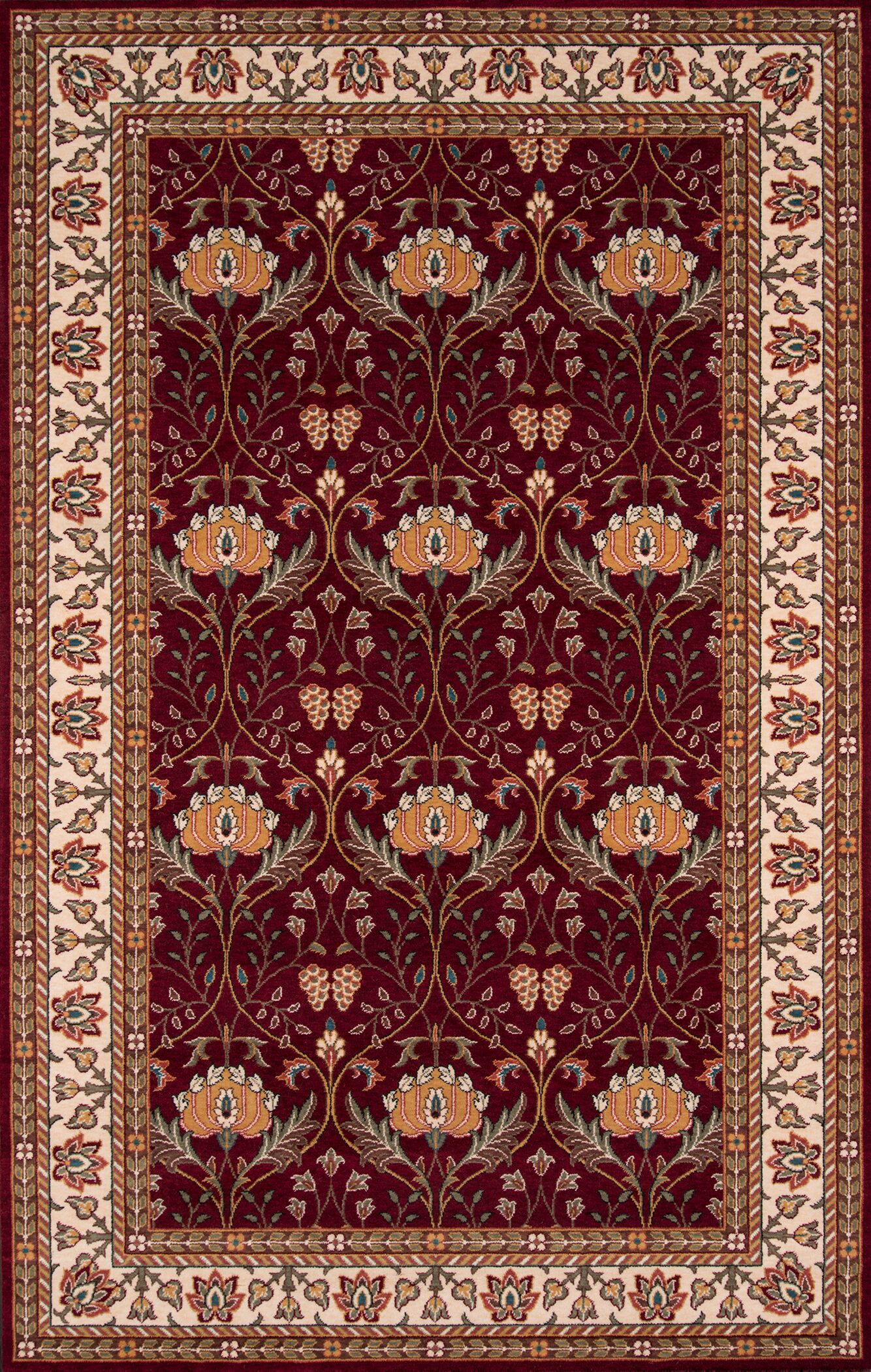 Forrestal Burgundy Area Rug Rug Size: Rectangle 8' x 10'