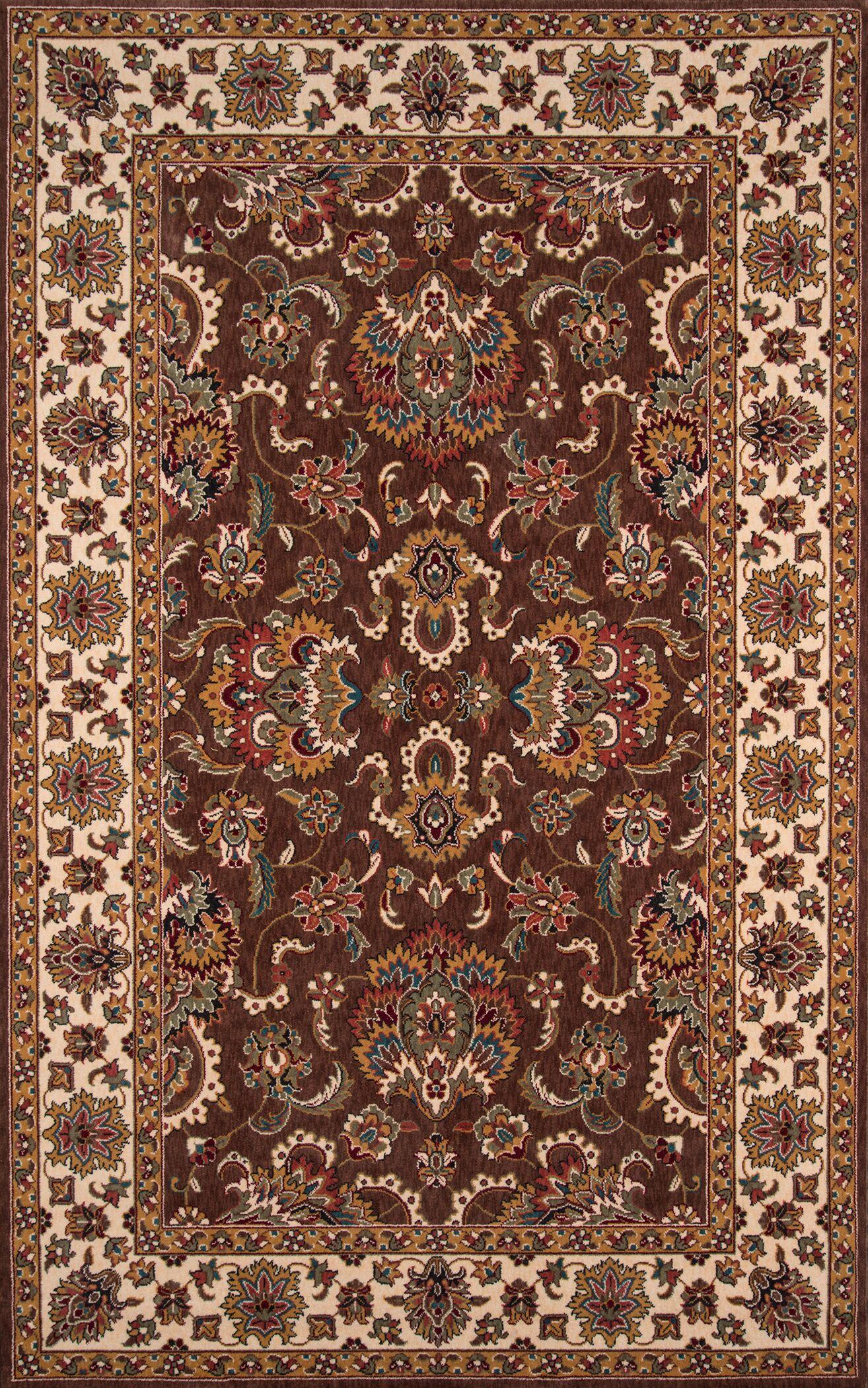 Forrestal Burgundy/Beige Area Rug Rug Size: Rectangle 8' x 10'
