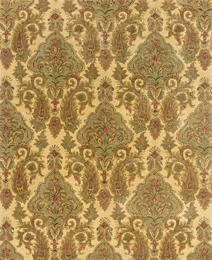 Lanesborough Hand-Tufted Beige/Green Area Rug Rug Size: Rectangle 7'6