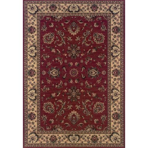 Shelburne Traditional Red/Ivory Area Rug Rug Size: Rectangle 7'10