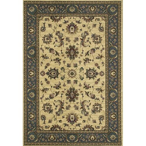 Shelburne Traditional Ivory/Blue Area Rug Rug Size: Square 8'