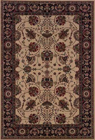 Shelburne Floral Ivory/Black Area Rug Rug Size: Rectangle 6'7