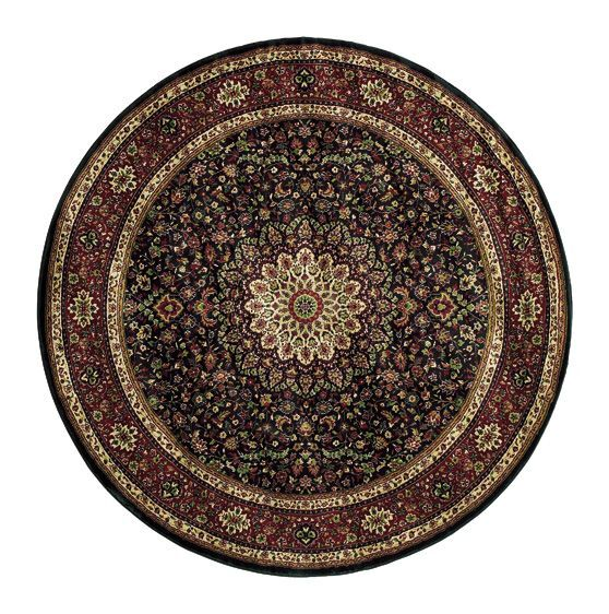 Shelburne Traditional Brown/Red Area Rug Rug Size: Round 8'