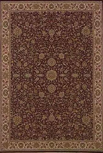 Shelburne Traditional Brown/Ivory Area Rug Rug Size: Round 6'