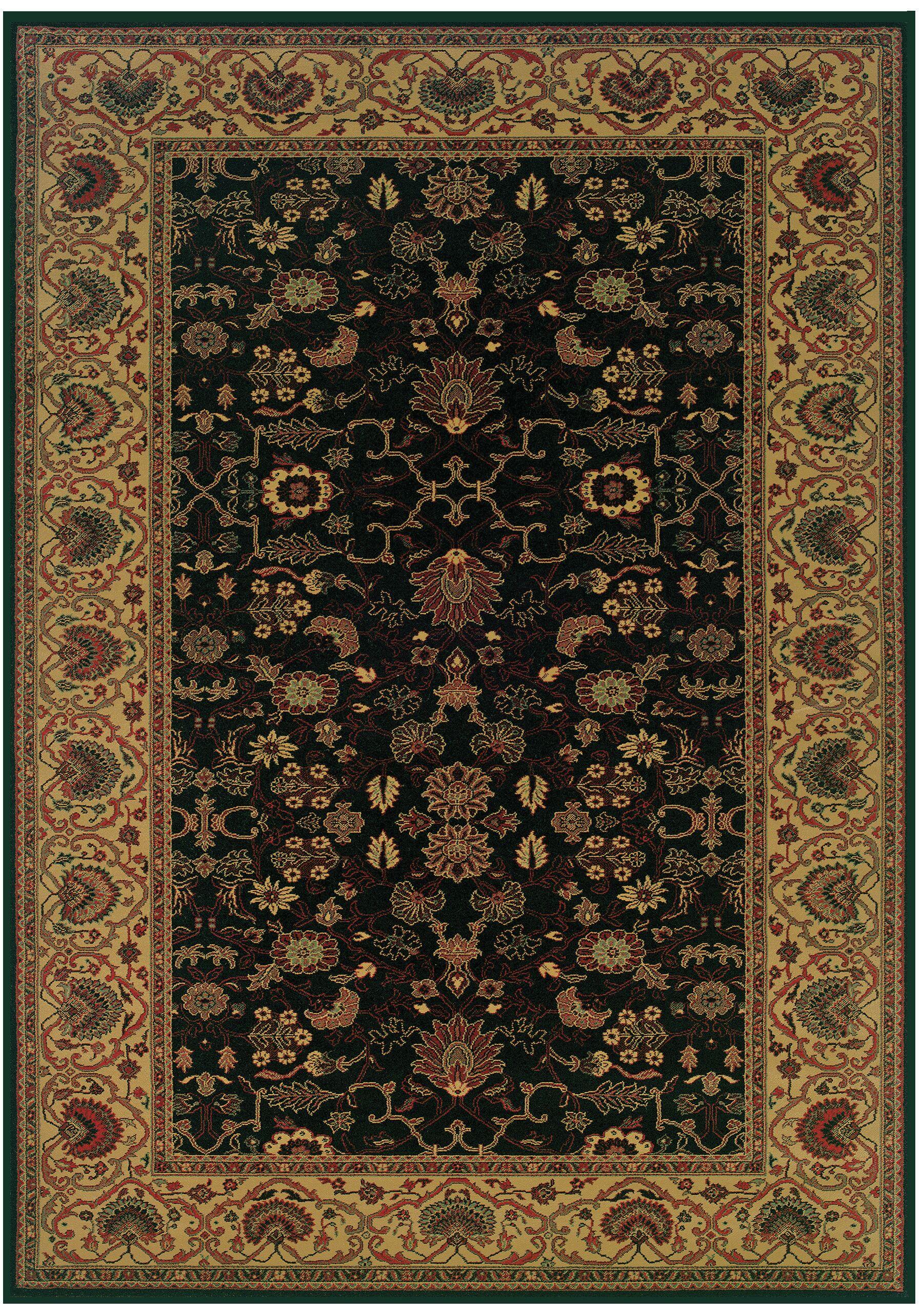 Cipriani Black/Beige Area Rug Rug Size: Octagon 5'3