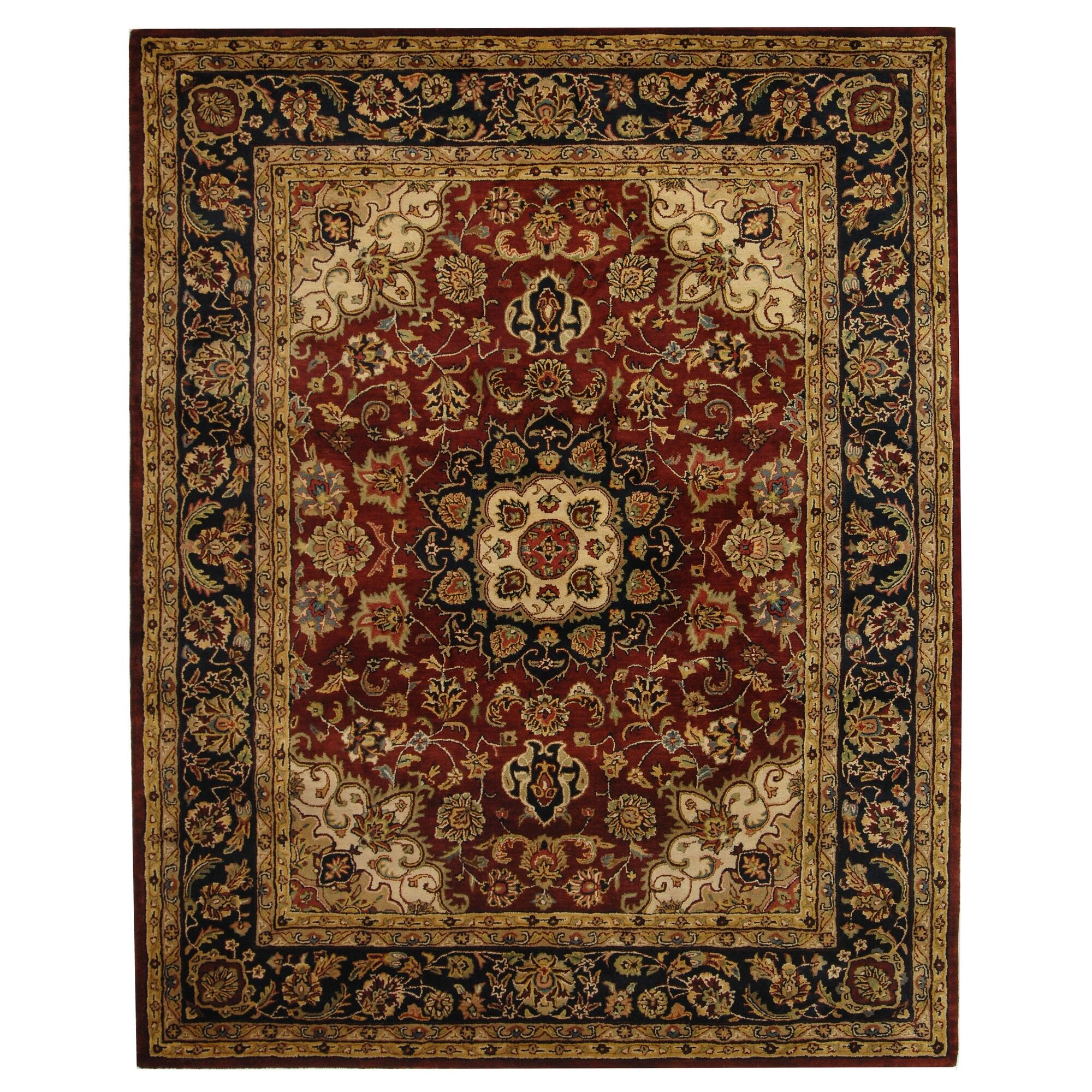 Costin Burgundy & Navy Area Rug Rug Size: Rectangle 9'6