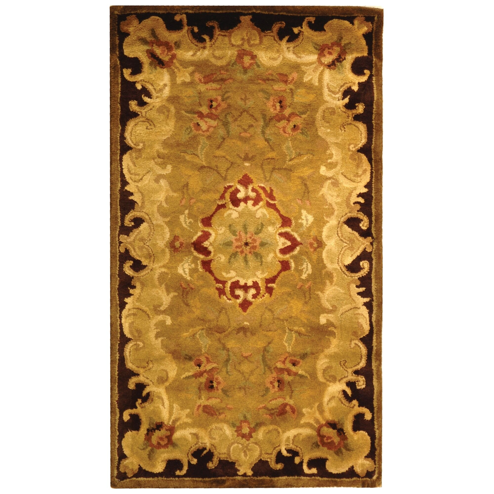 Carnasheeran Gold/Cola Rug Rug Size: Rectangle 7'6