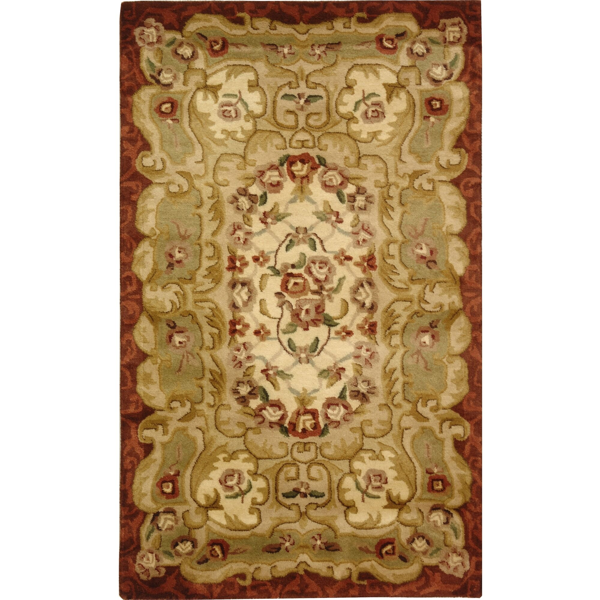 Carnasheeran Ivory/Red Rug Rug Size: Rectangle 8'3