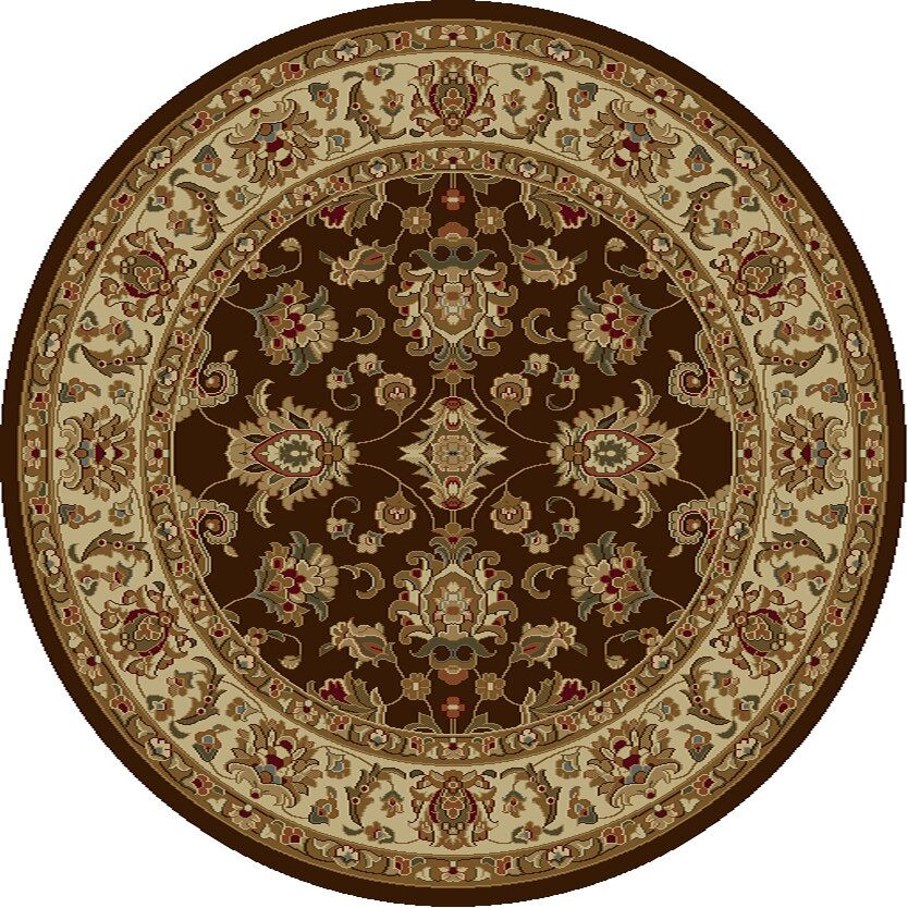 Ikin Mocha/Ivory Kashan Rug Rug Size: Rectangle 7'10
