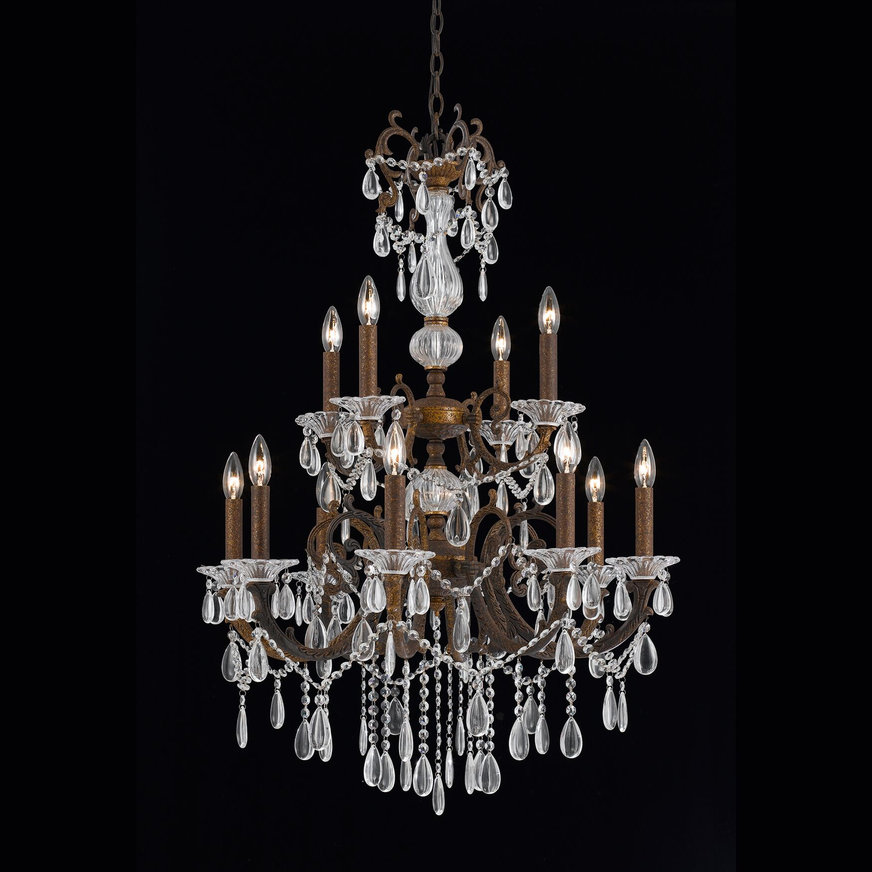 Donat 12-Light Candle Style Chandelier