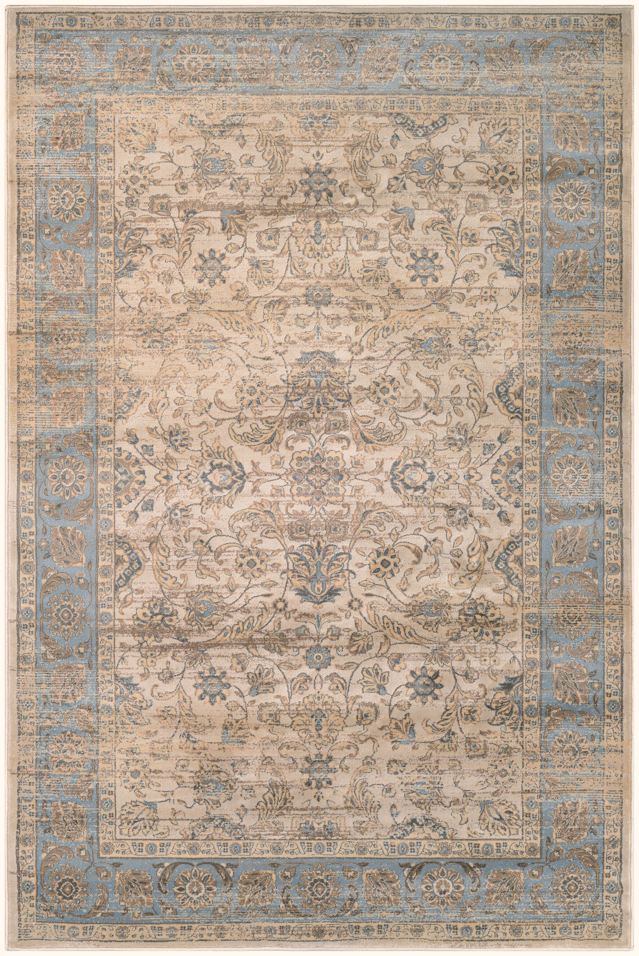 Cotswolds Light Blue/Oatmeal Area Rug Rug Size: Rectangle 7'10