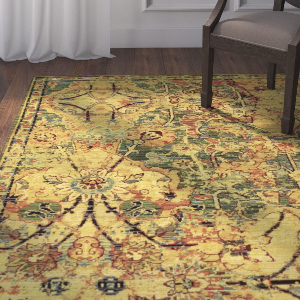 Charleson Olive Area Rug Rug Size: Rectangle 12' x 15'