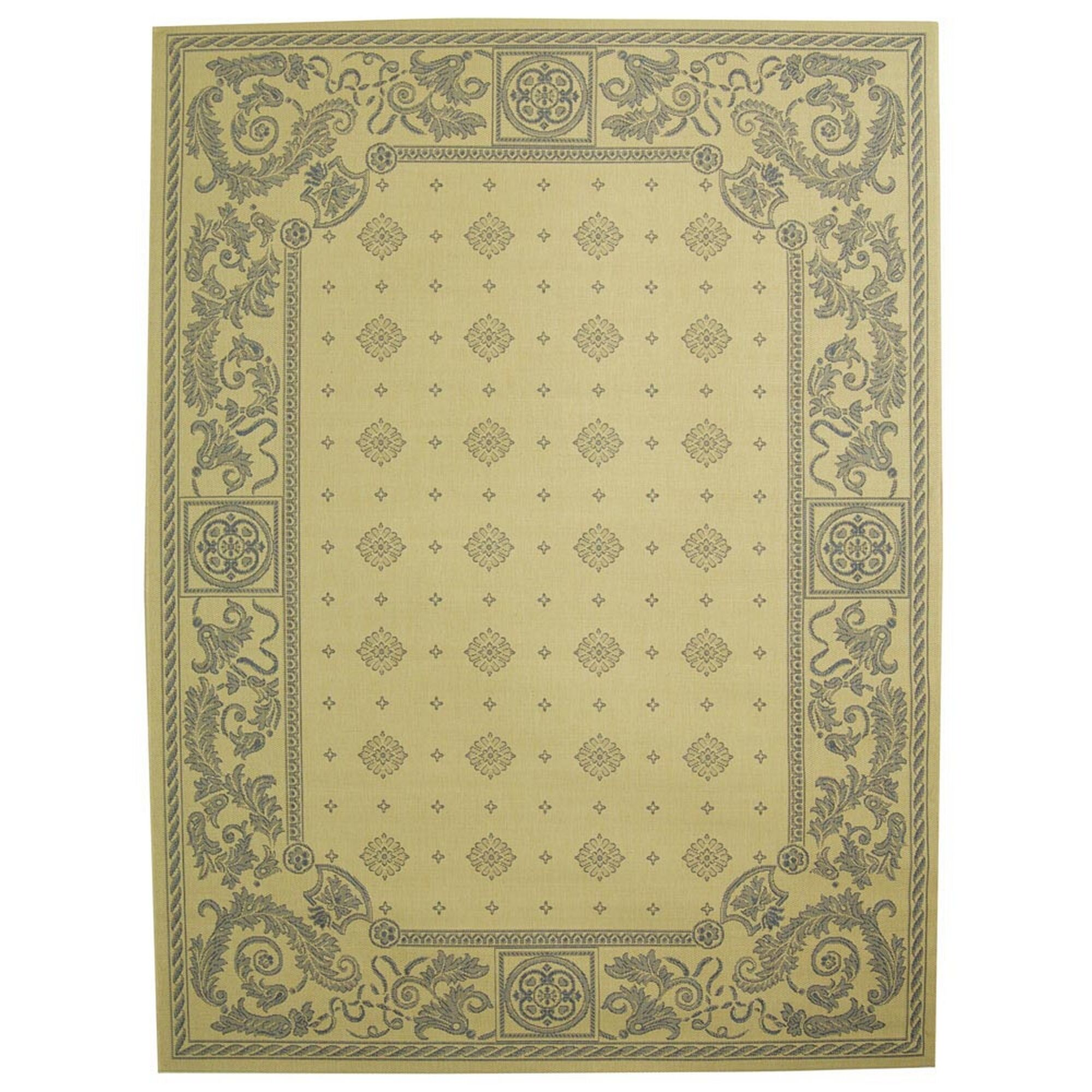 Carsen Natural/Blue Outdoor Rug Rug Size: Rectangle 7'10