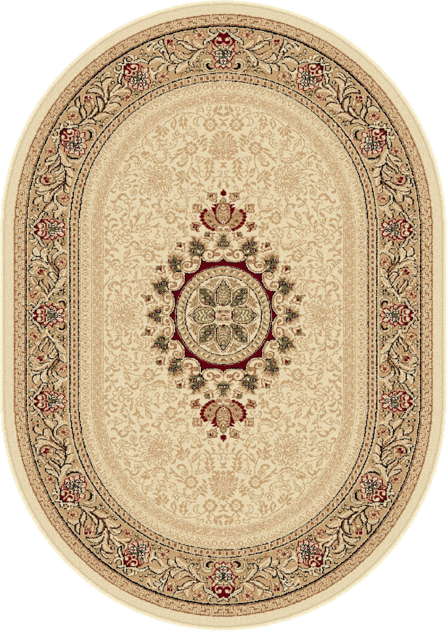 Clarence Beige/Tan Area Rug Rug Size: 5'3'' x 7'3'' Oval