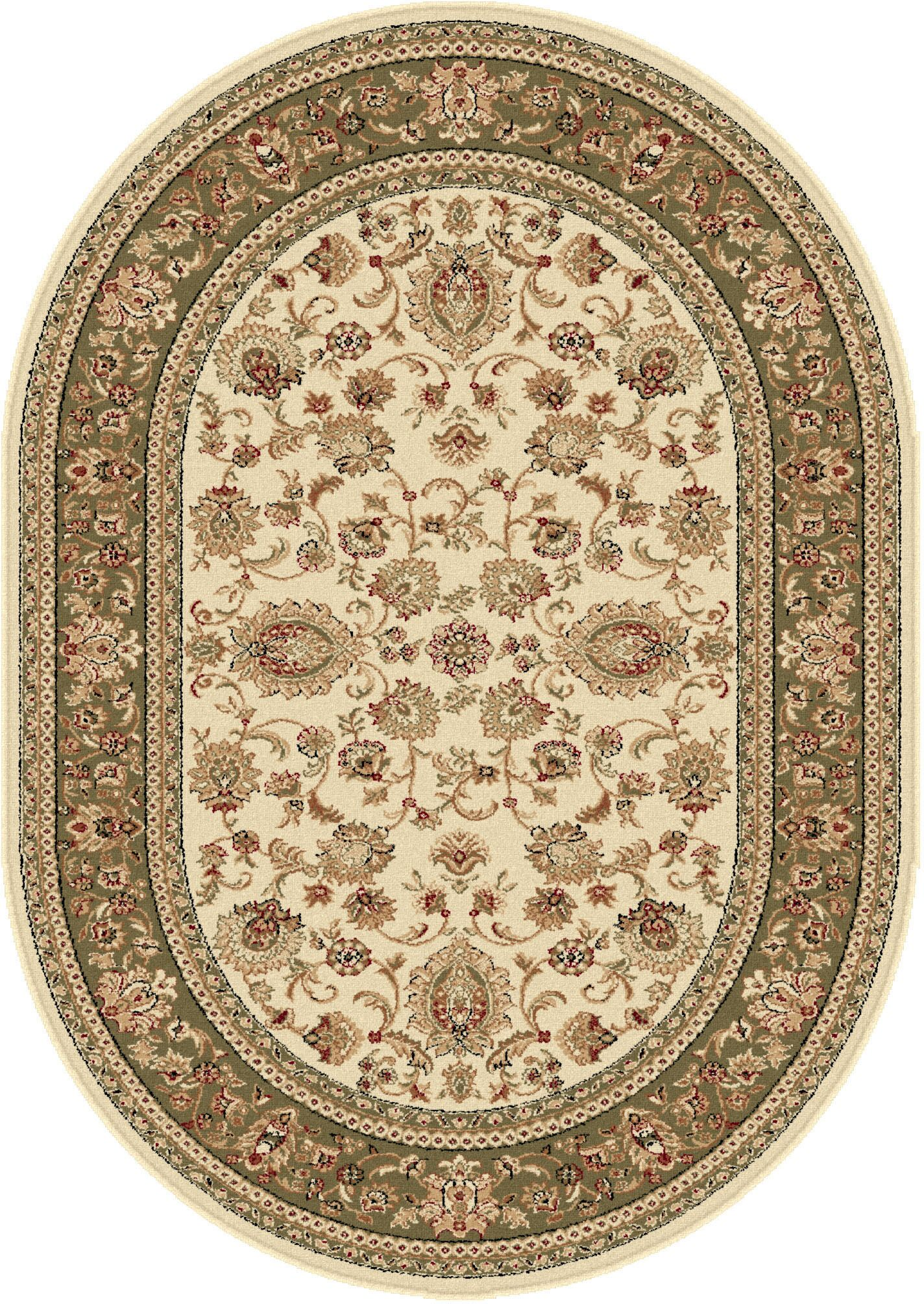 Clarence Beige Area Rug Rug Size: 6'7'' x 9'6'' Oval