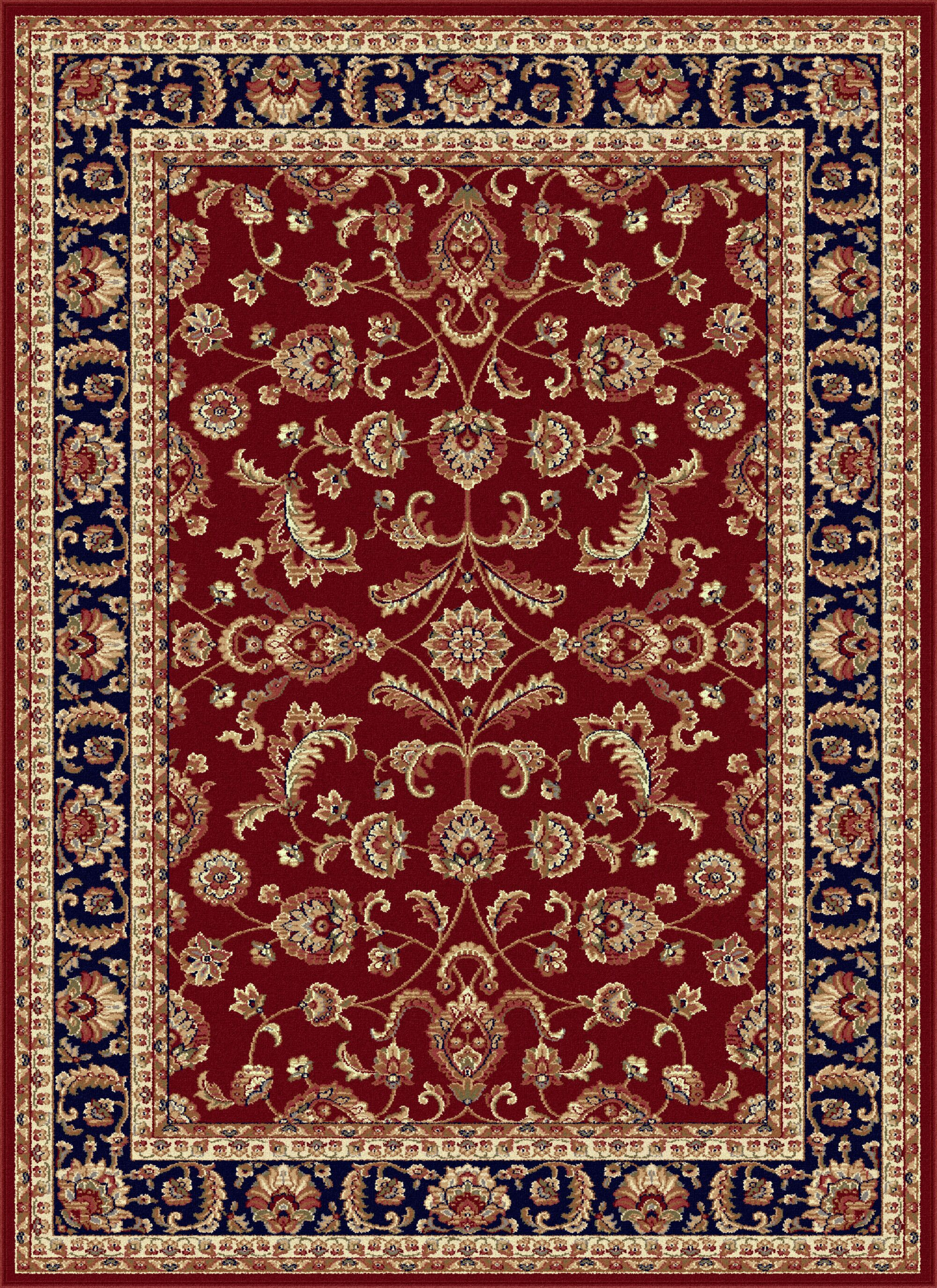 Clarence Red/Navy Blue Area Rug Rug Size: 6'7'' x 9'6''