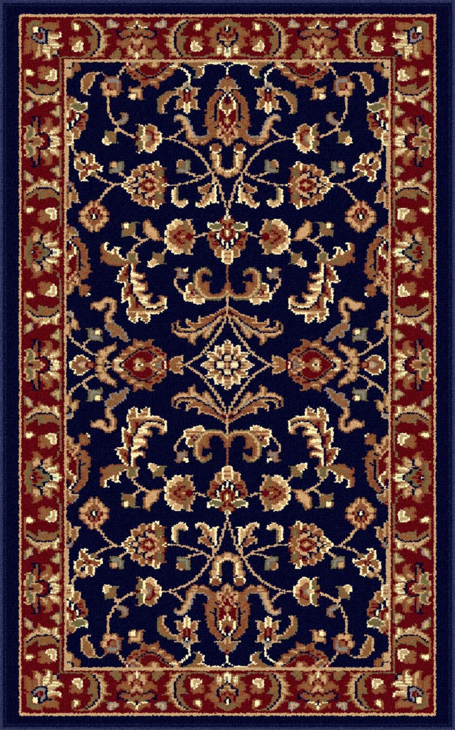 Clarence Navy Blue/Red Area Rug Rug Size: 7'10'' x 10'3''
