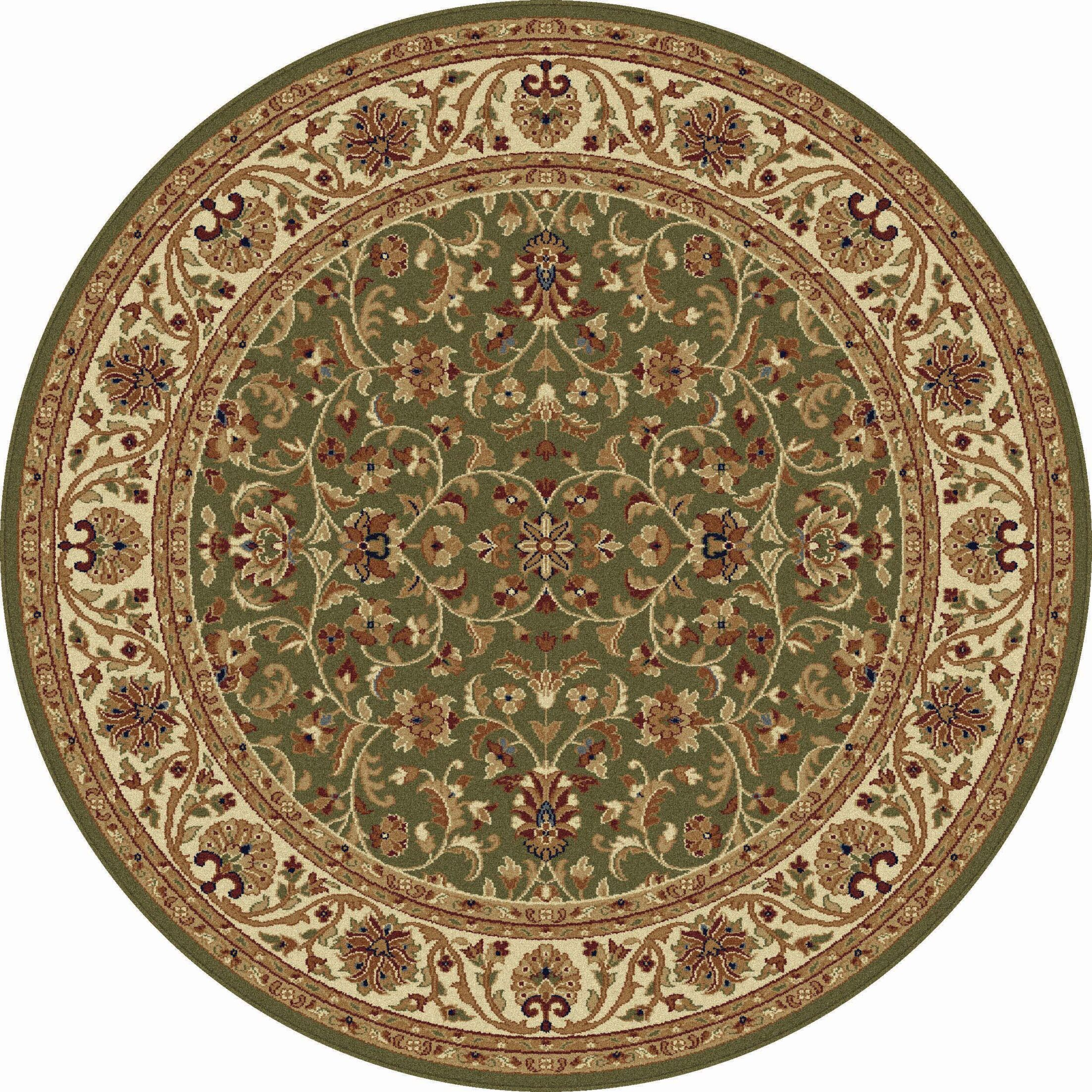 Clarence Green Area Rug Rug Size: 7'10'' Round