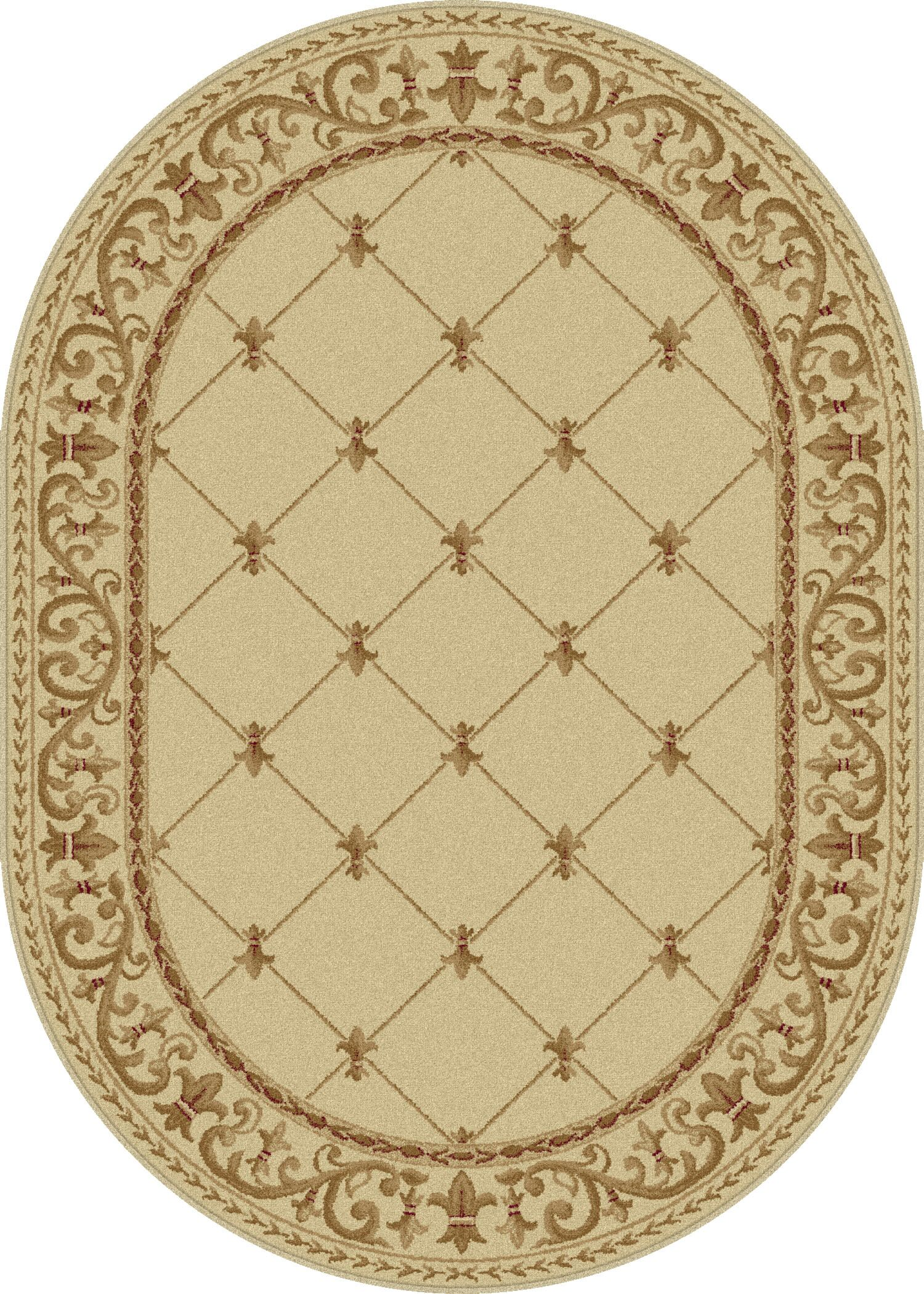Clarence Ivory Area Rug Rug Size: 5'3'' x 7'3'' Oval