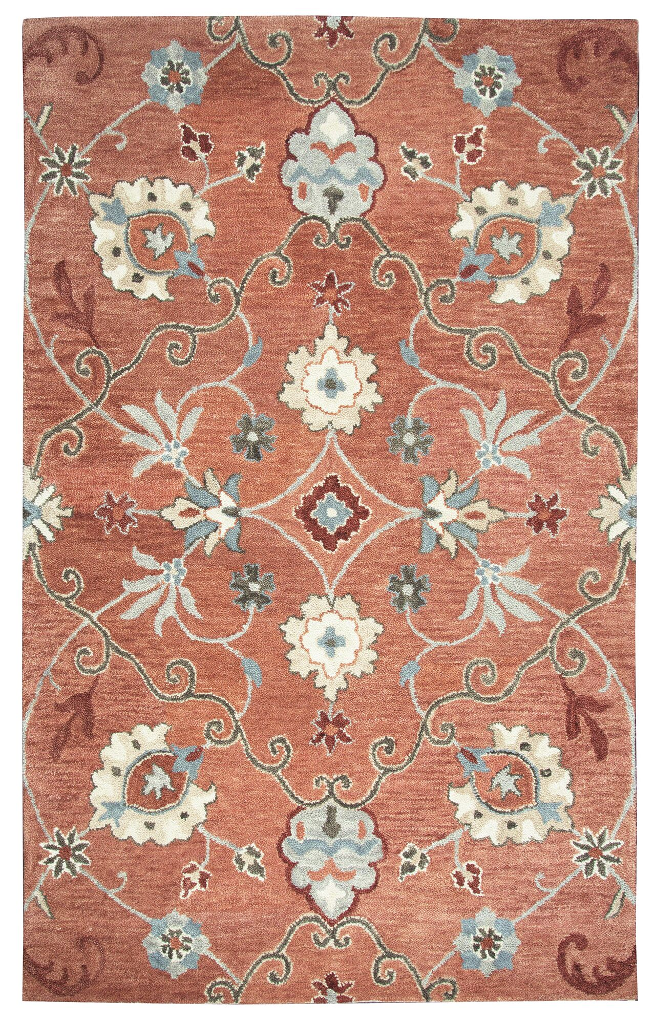 Gellert Hand-Tufted Paprica Area Rug Size: Rectangle 8' x 10'