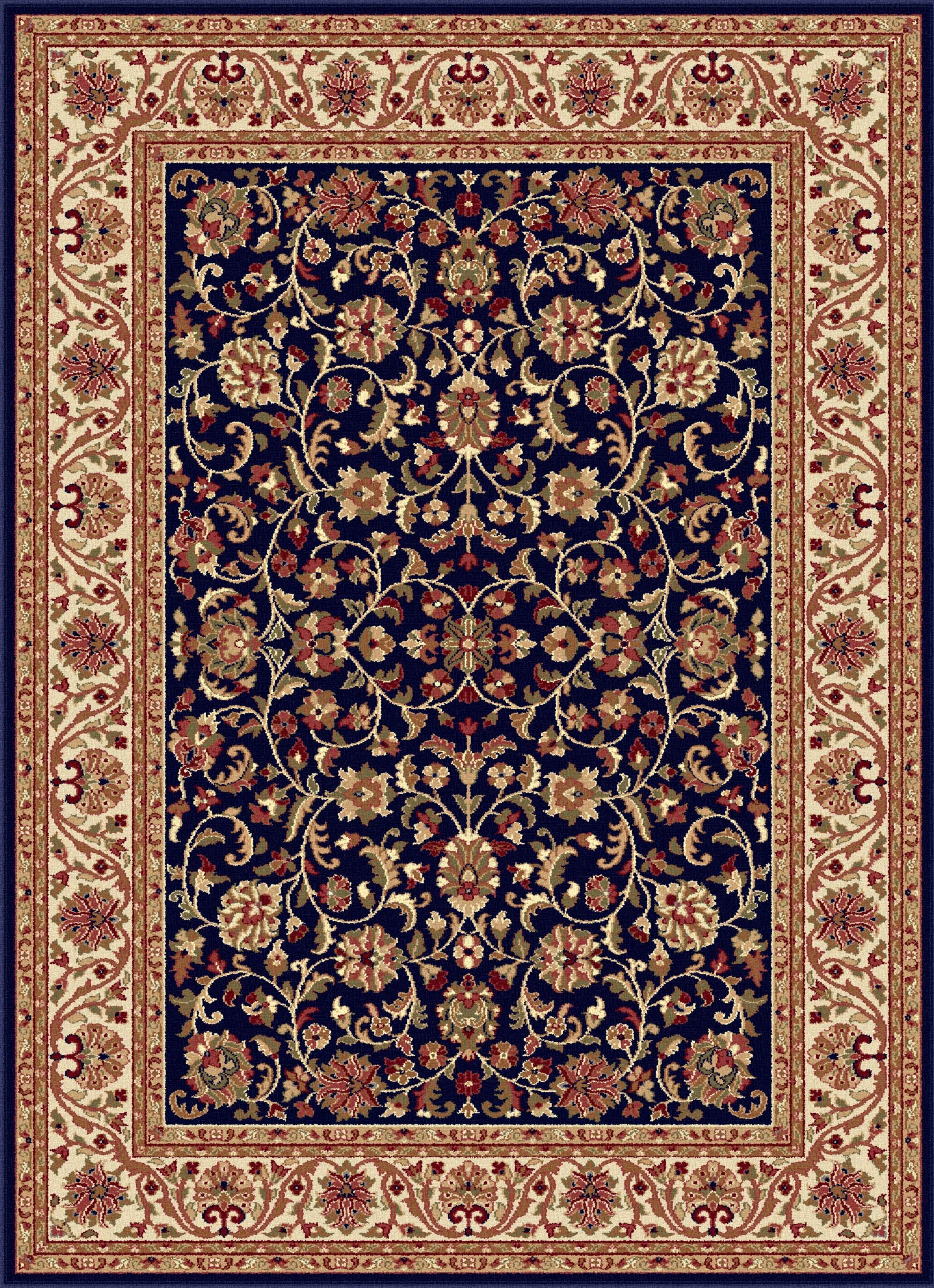Clarence Navy/Beige Area Rug Rug Size: 10'6'' x 14'6''