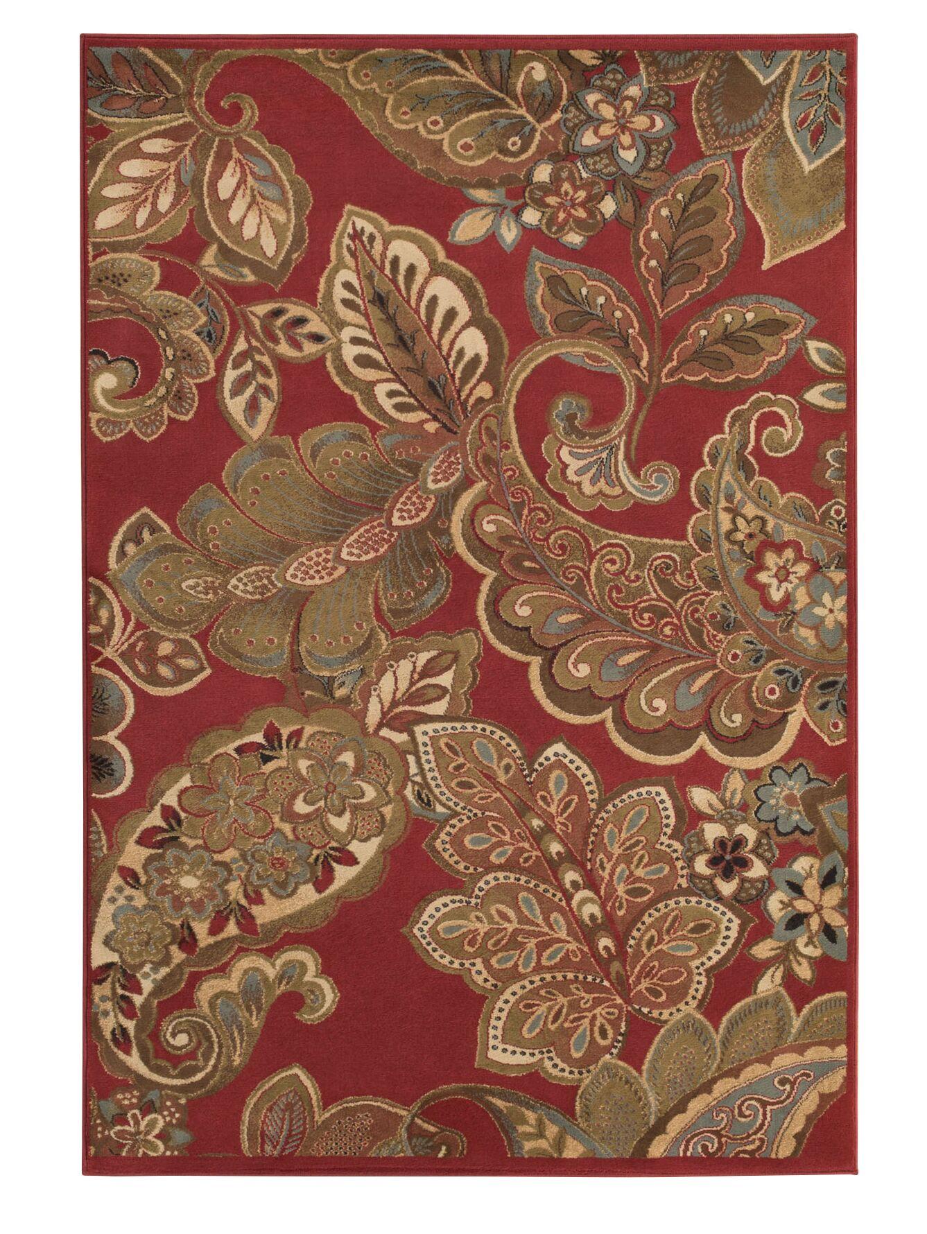 Needham Dark Red Indoor Area Rug Rug Size: Rectangle 10' x 13'