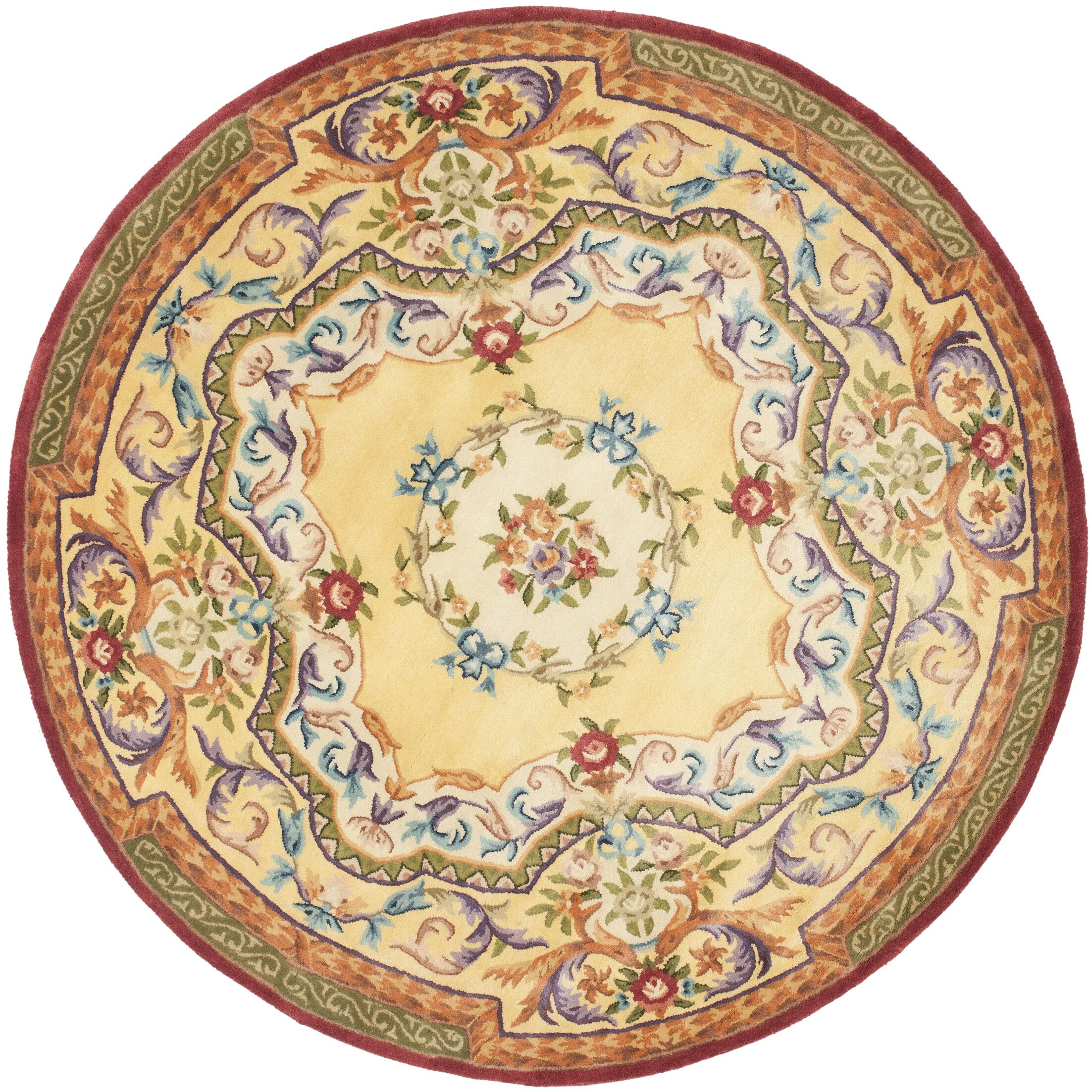 Bedgood Gold Area Rug Rug Size: Round 6'