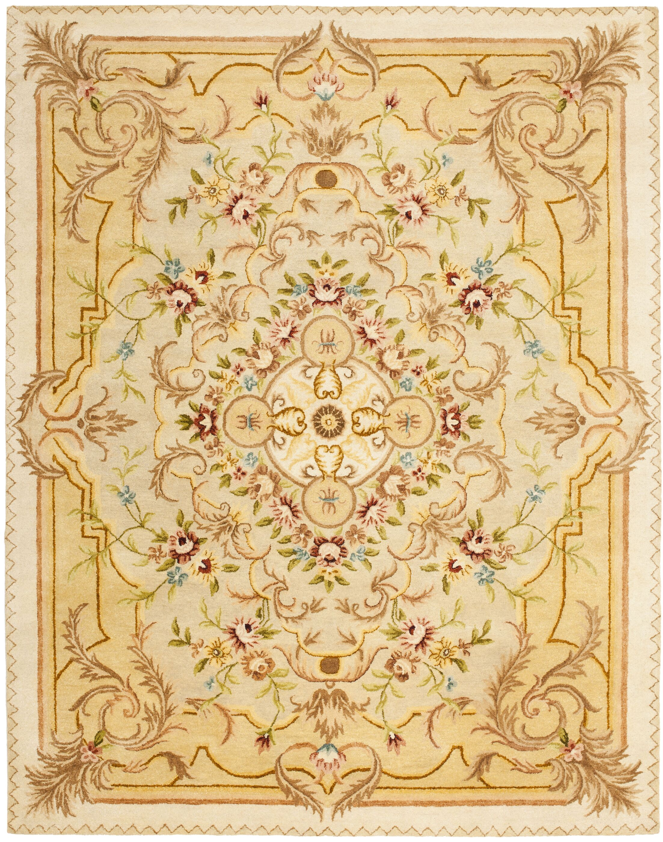 Bedgood Beige/Light Gold Area Rug Rug Size: Rectangle 8'3