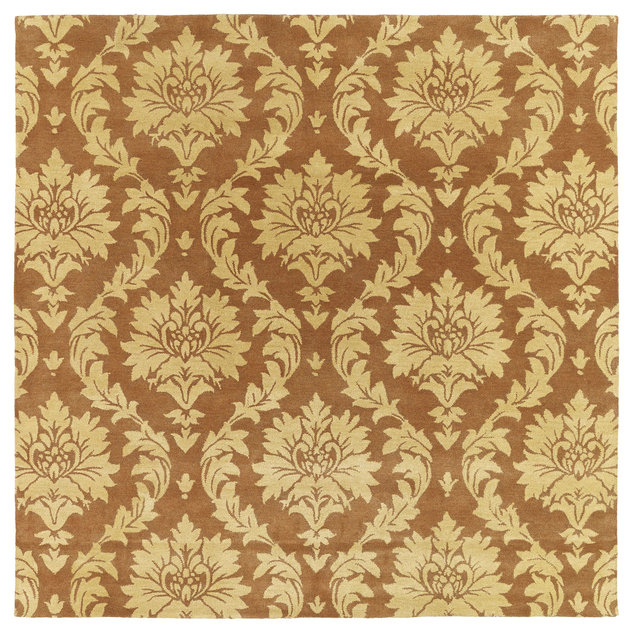 Drewery Brown/Yellow Area Rug Rug Size: Square 7'9
