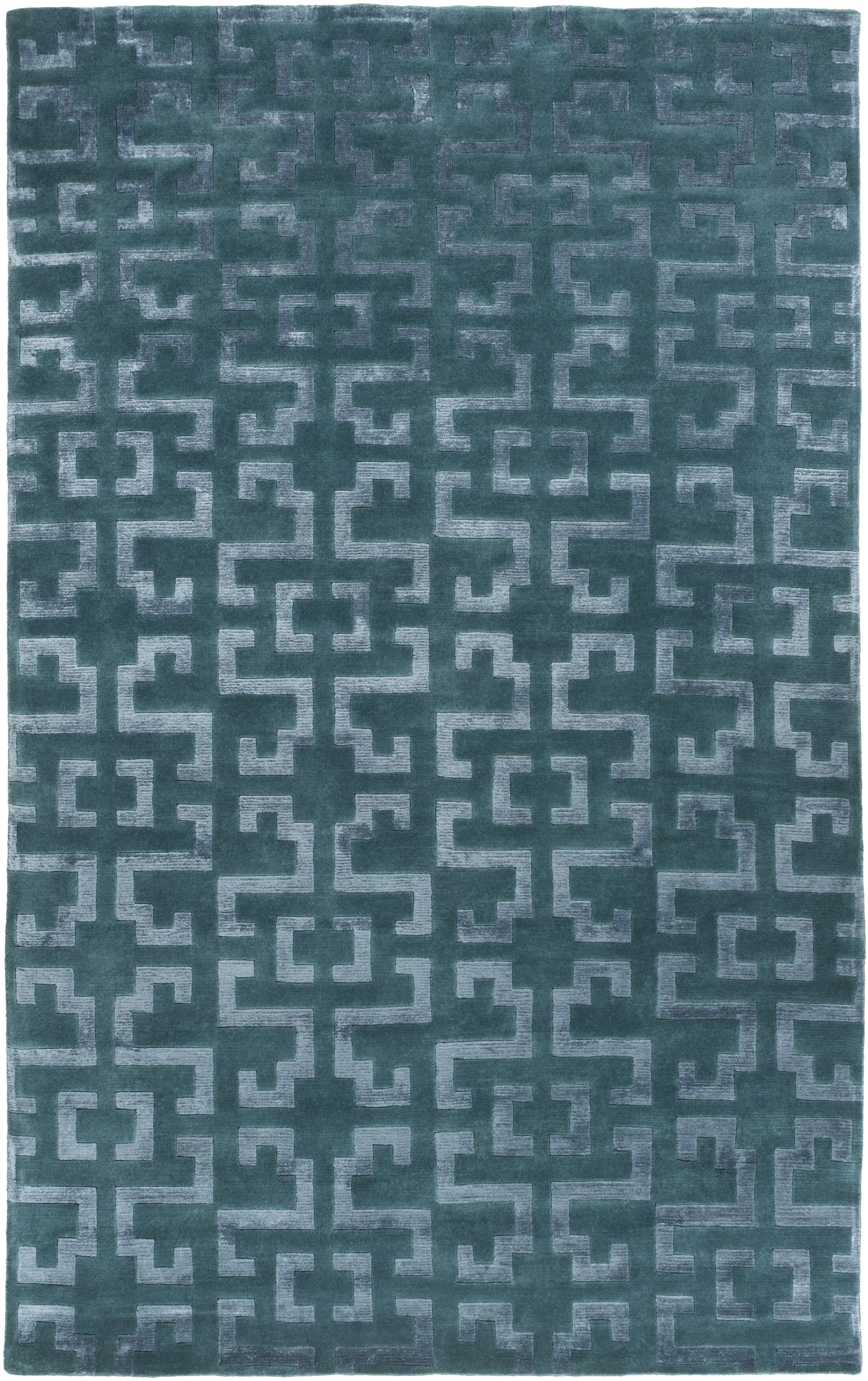 Bart Teal/Gray Geometric Area Rug Rug Size: Rectangle 9' x 13'